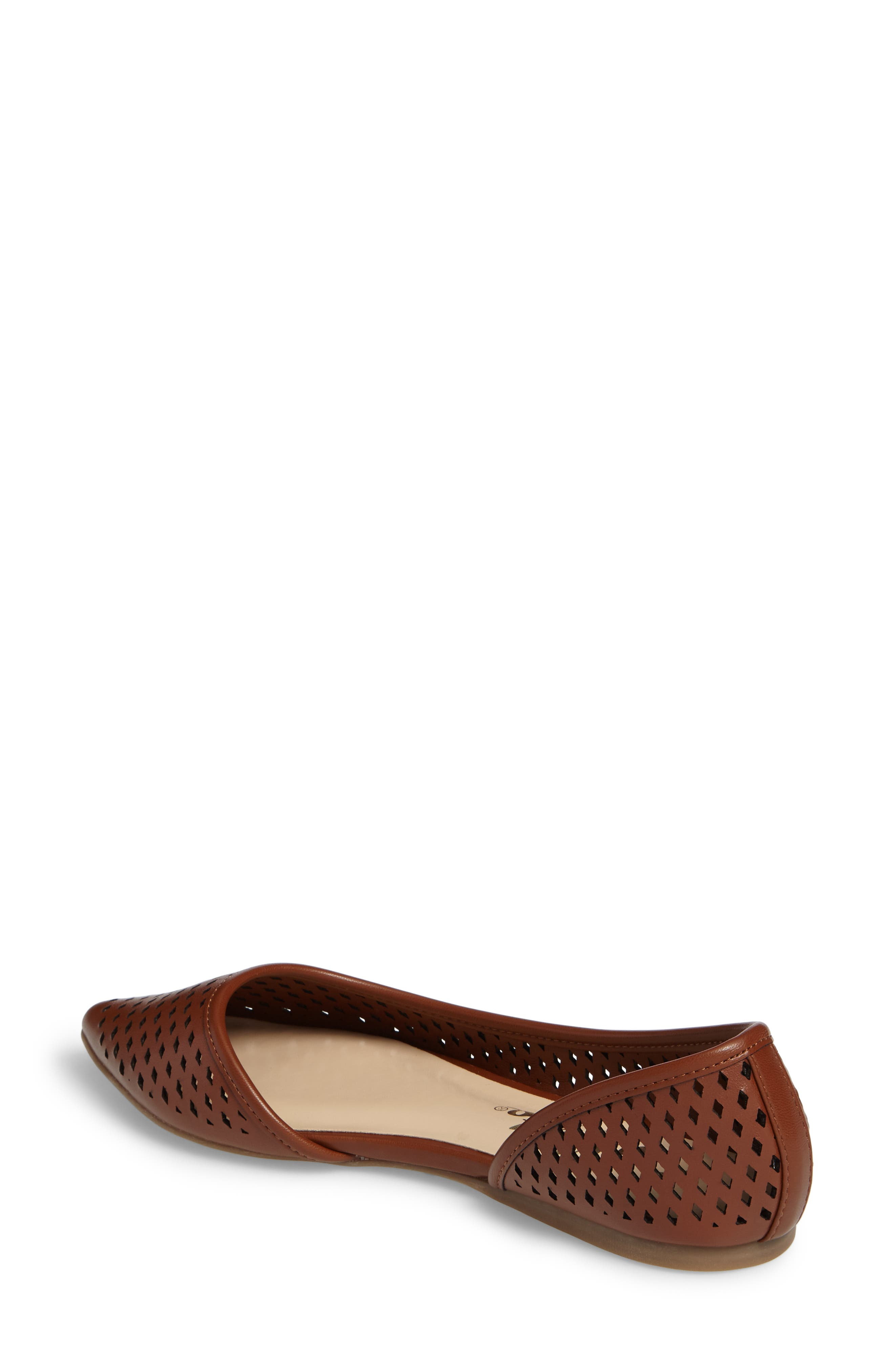 Swiftye Half d'Orsay Flat,                             Alternate thumbnail 2, color,                             Tan Synthetic Leather