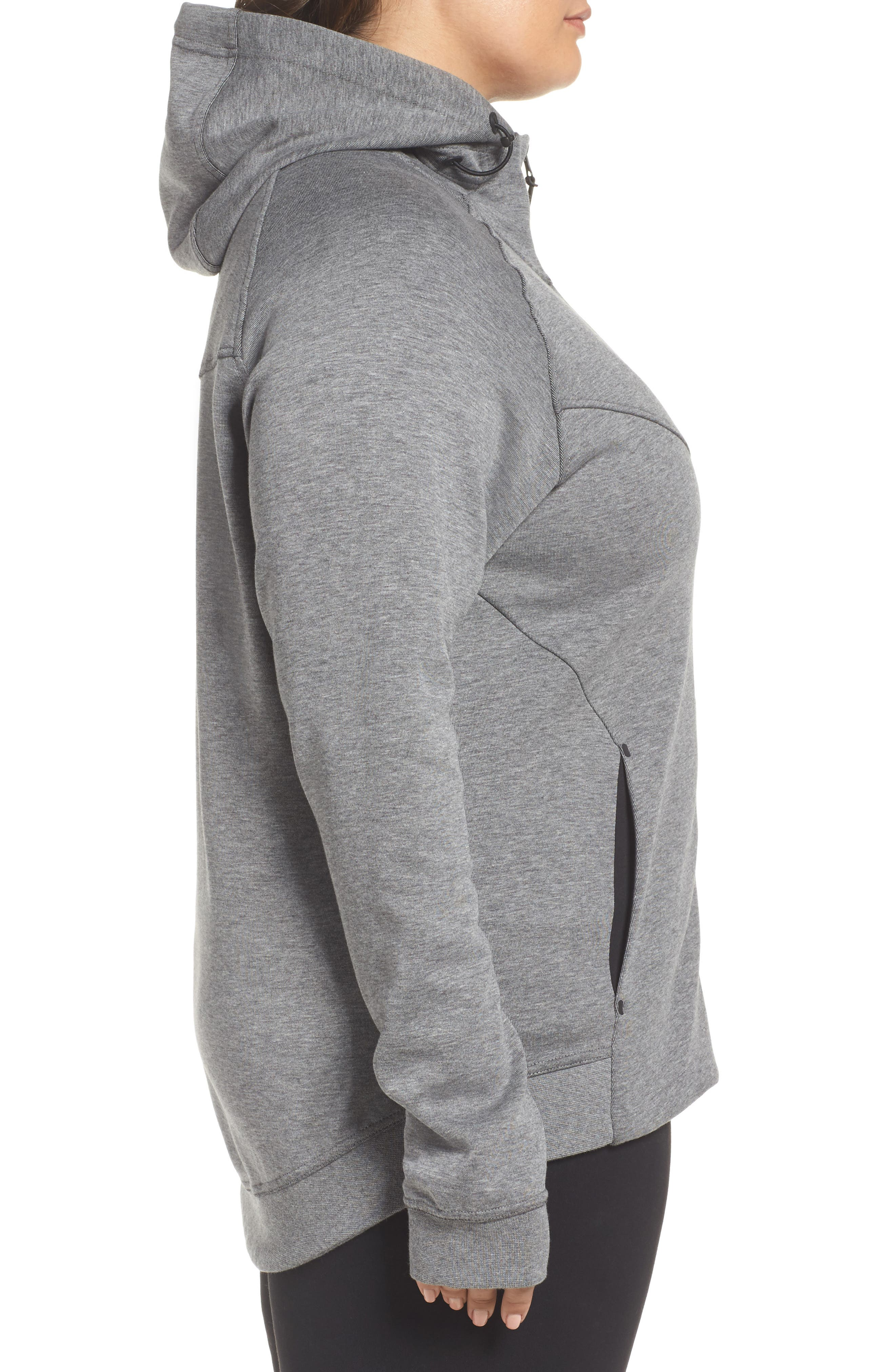 Alternate Image 3  - Nike Tech Fleece Hoodie (Plus Size)