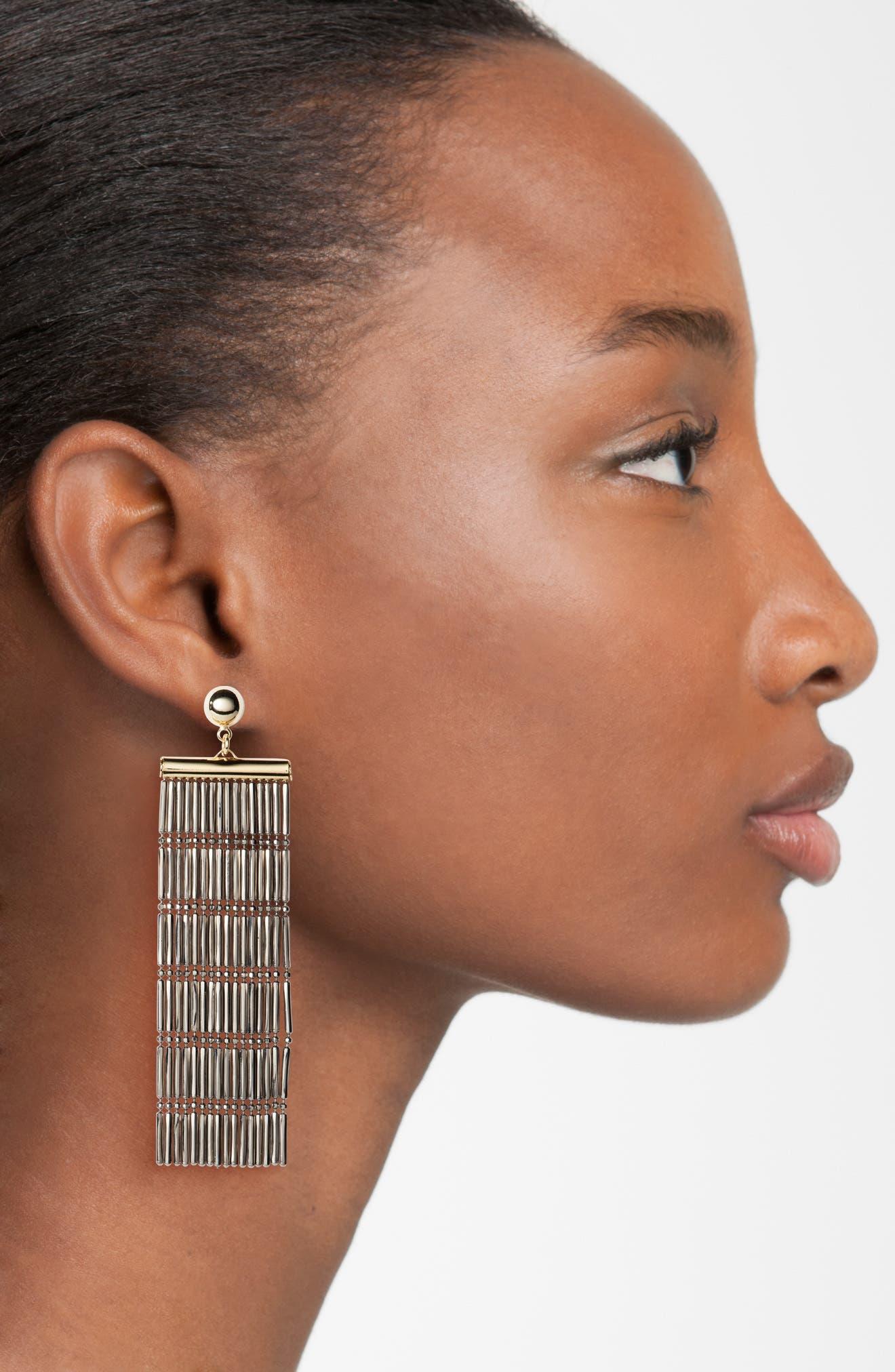 Alternate Image 2  - Argento Vivo Two-Tone Linear Fringe Earrings