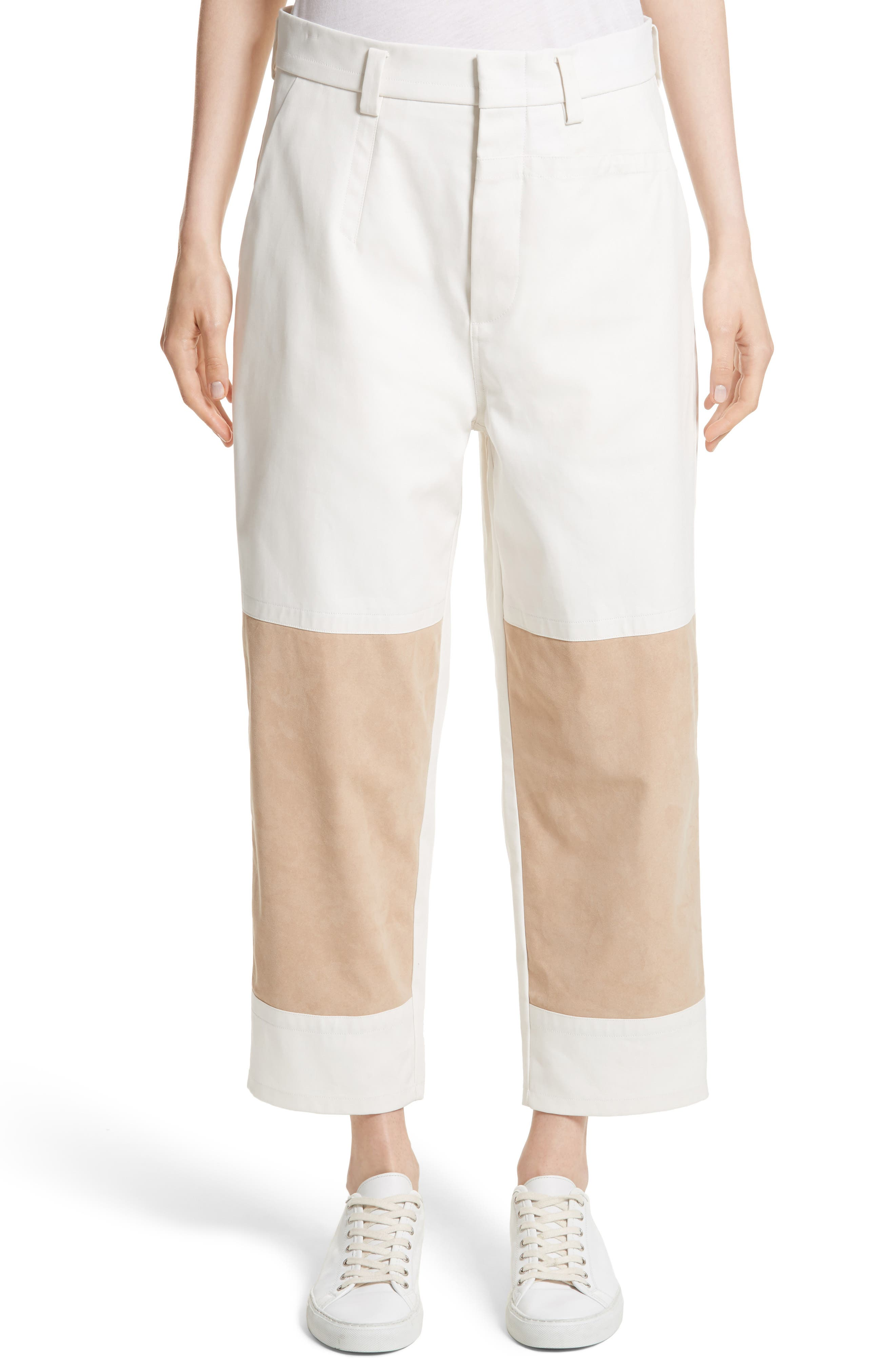 Ankle Pants,                         Main,                         color, Winter White