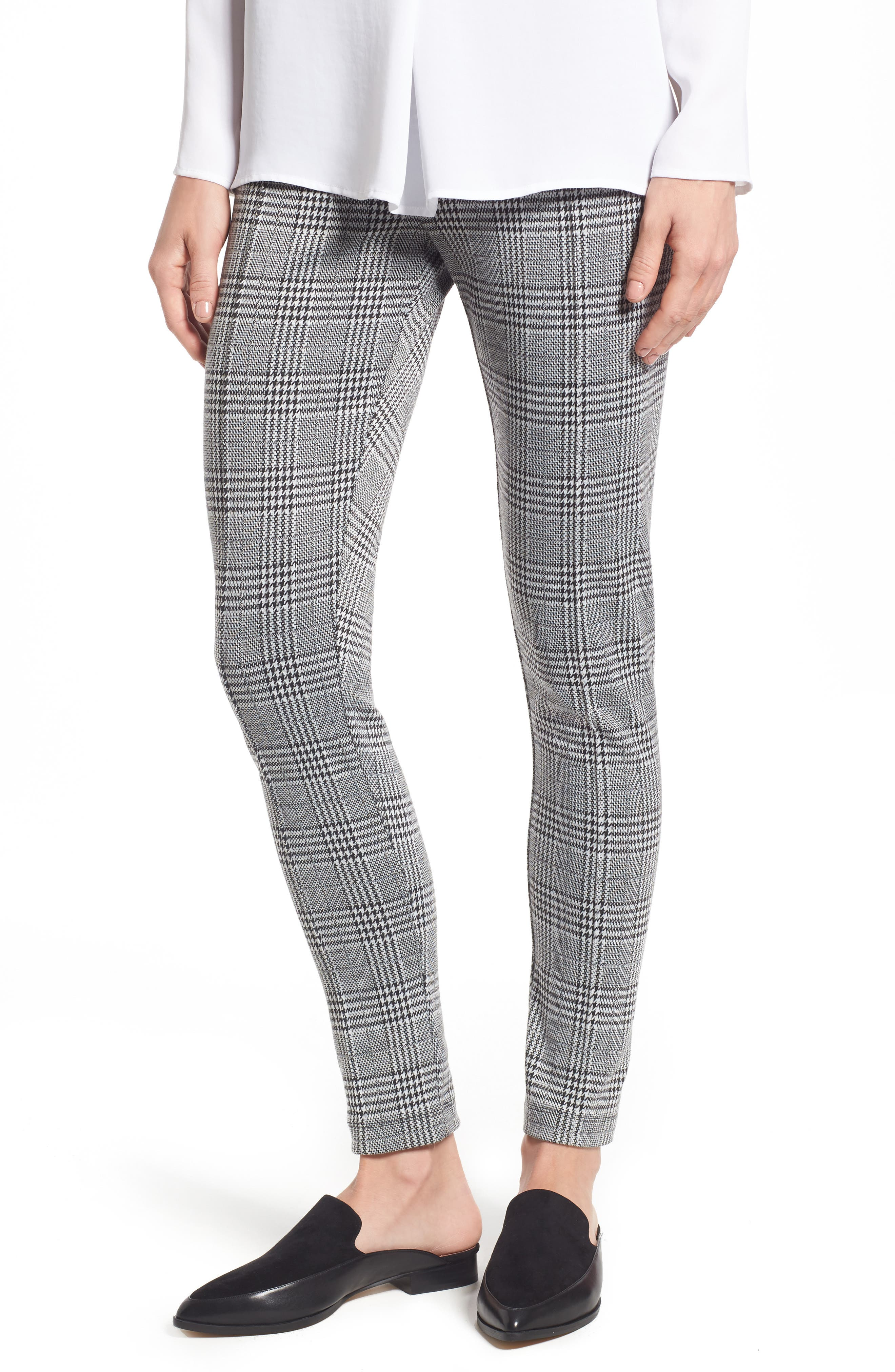 Two by Vince Camuto Plaid Seam Front Leggings