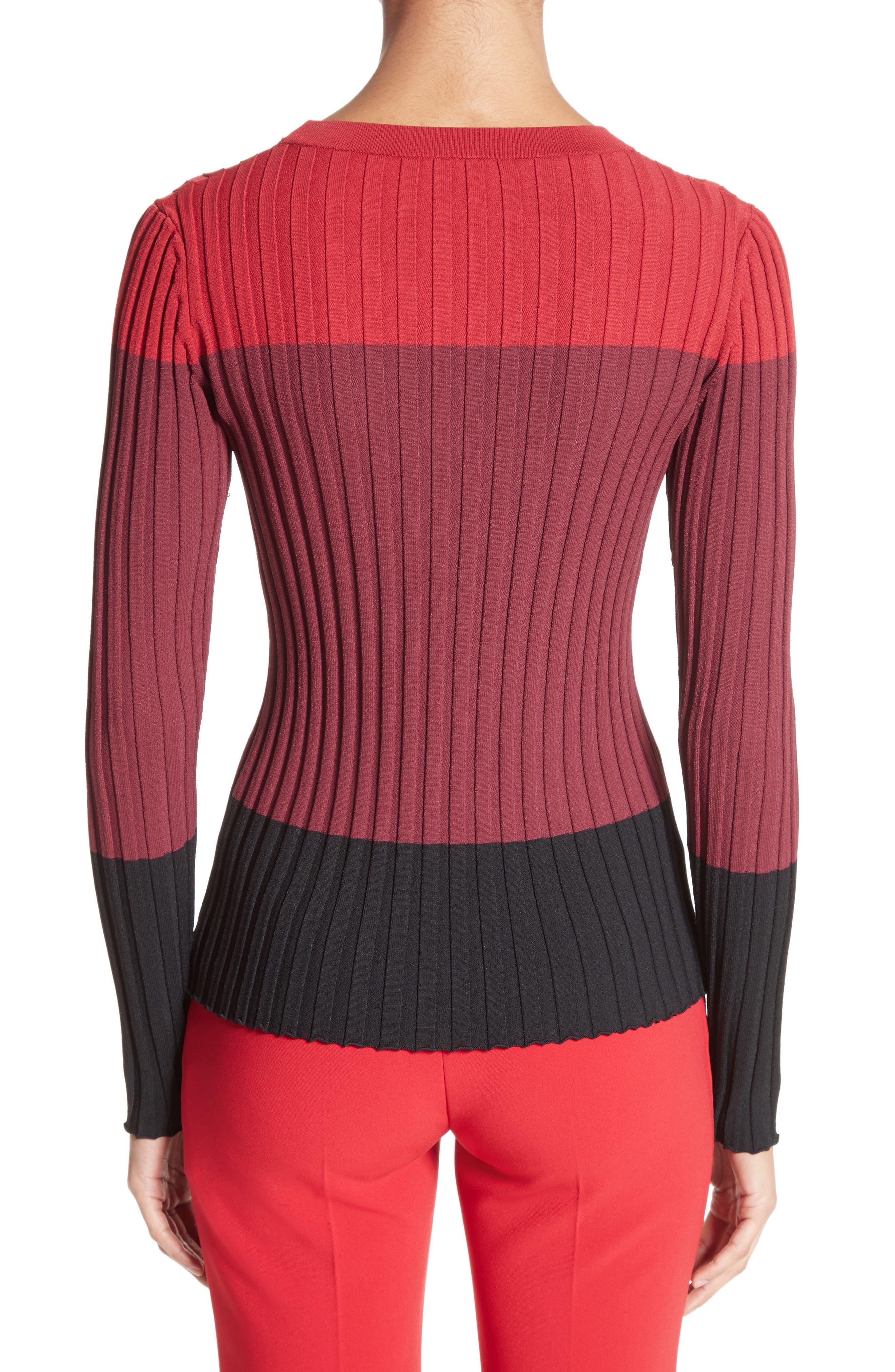 Leila Colorblock Knit Sweater,                             Alternate thumbnail 2, color,                             Port Multi