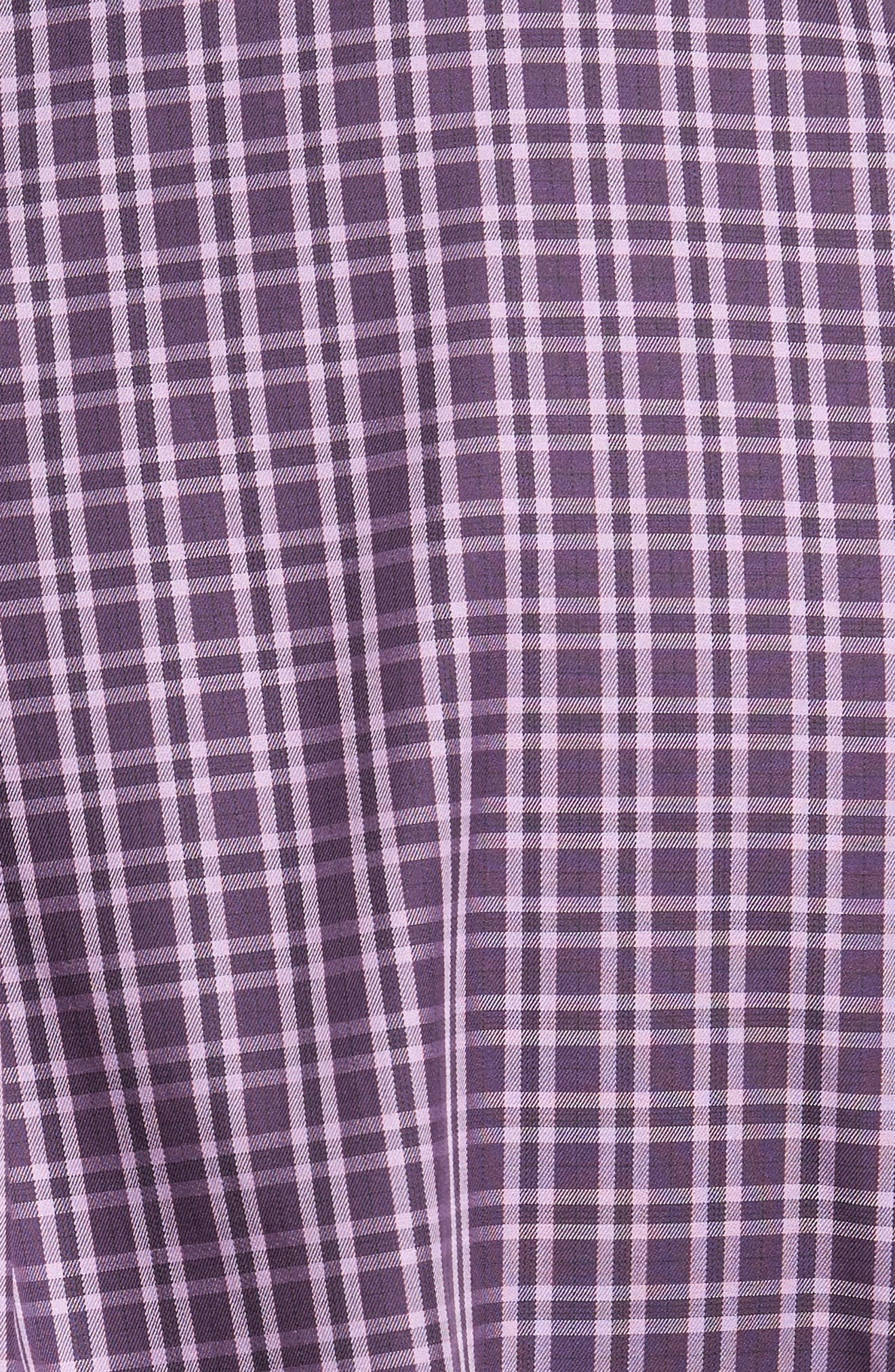 Autumn Check Regular Fit Sport Shirt,                             Alternate thumbnail 5, color,                             Blackberry