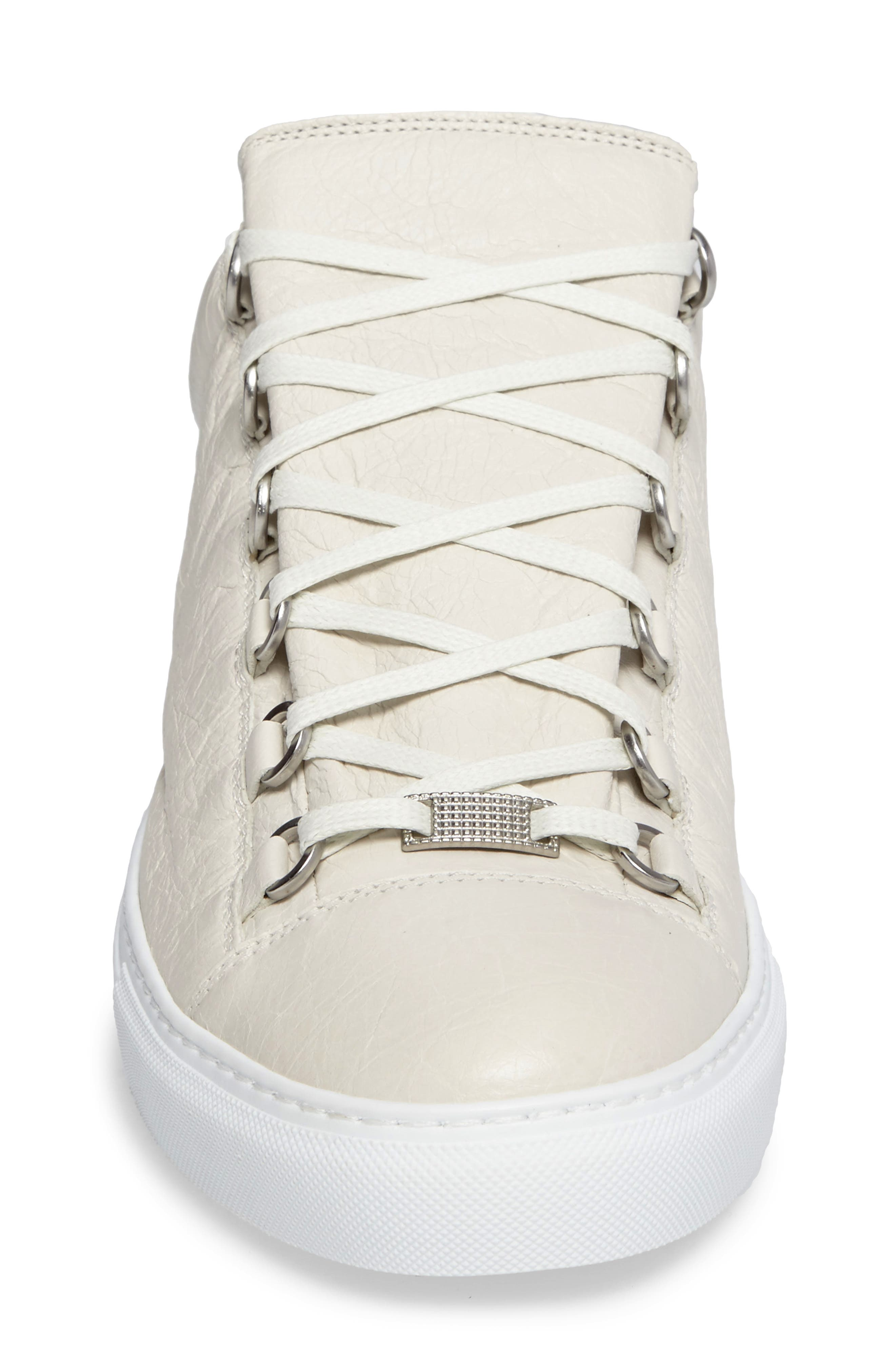Arena Low Sneaker,                             Alternate thumbnail 4, color,                             Extra Blanc Leather