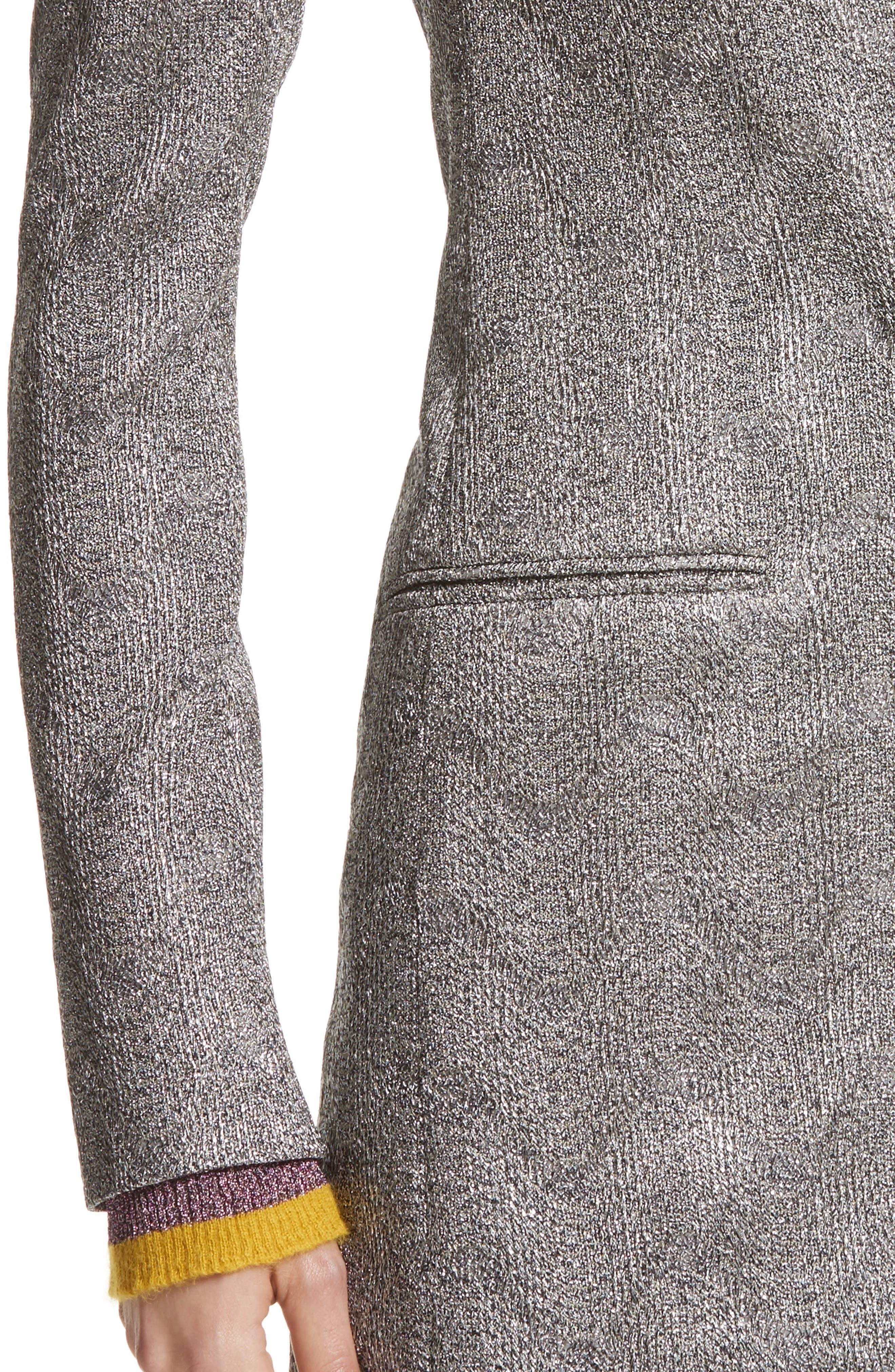 Alternate Image 6  - Missoni Metallic Knit Double Breasted Jacket