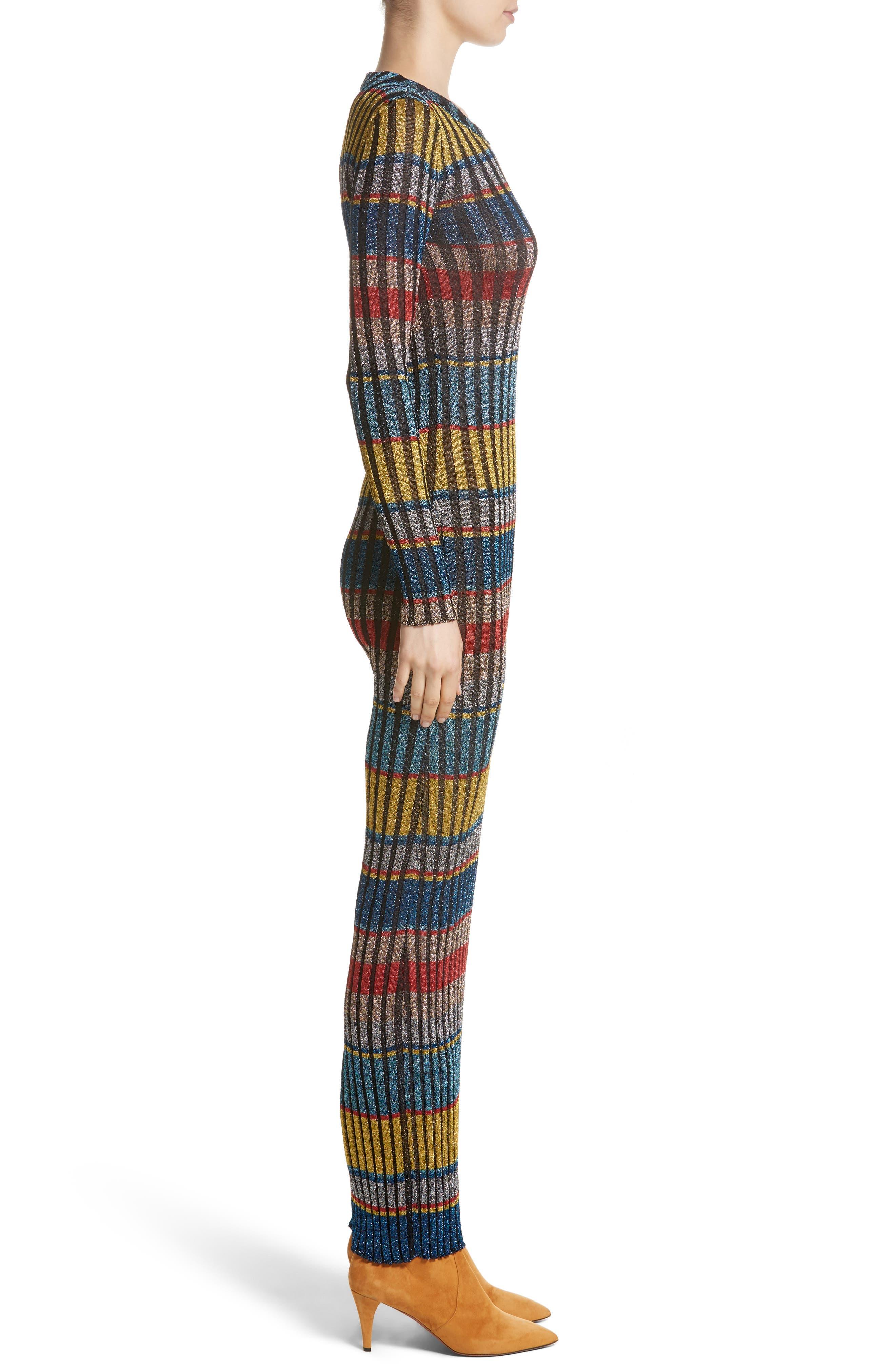 Alternate Image 4  - Missoni Metallic Stripe Knit Maxi Dress