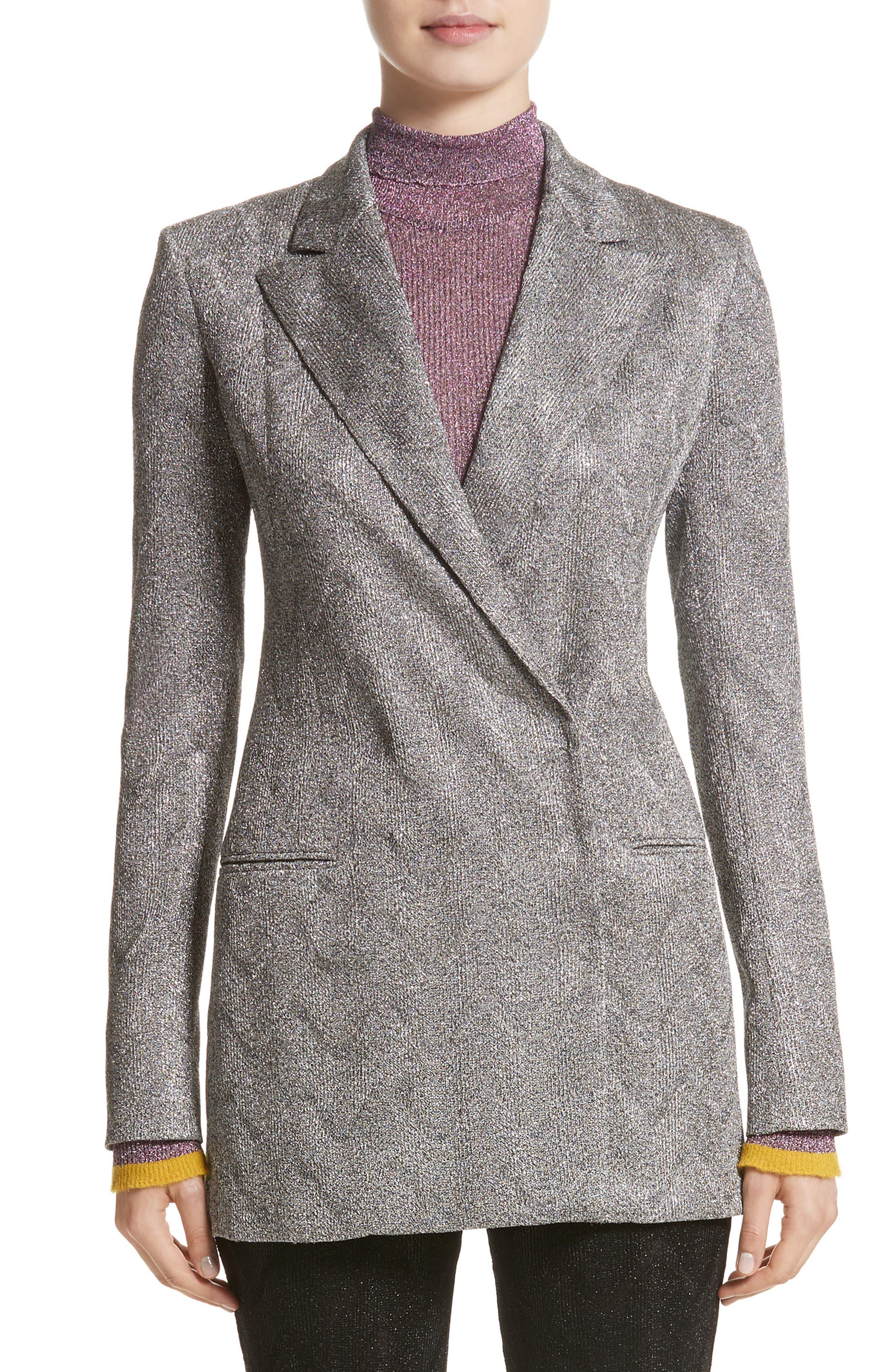 Main Image - Missoni Metallic Knit Double Breasted Jacket