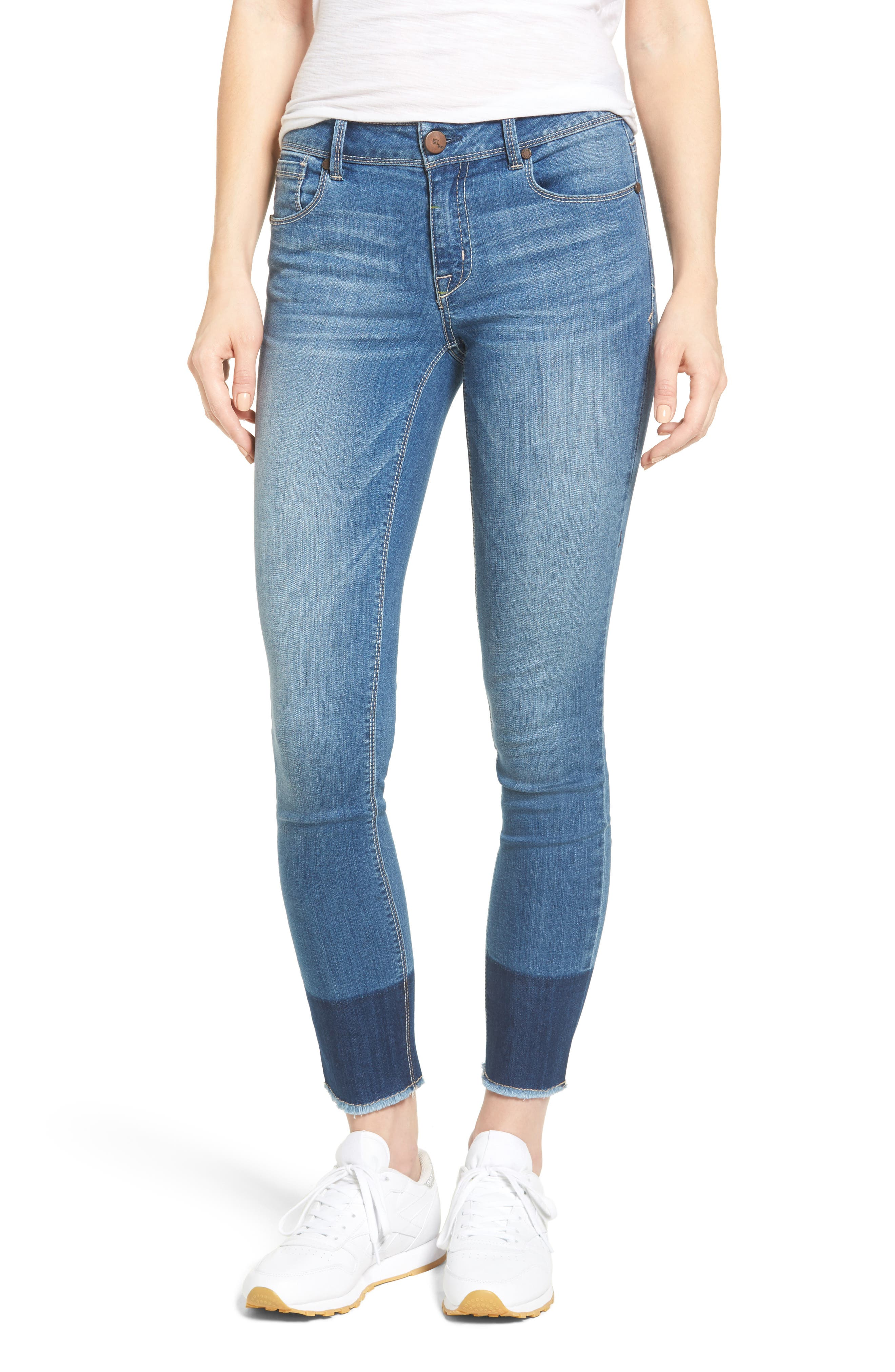 1822 Denim Two-Tone Skinny Jeans (Lexington)