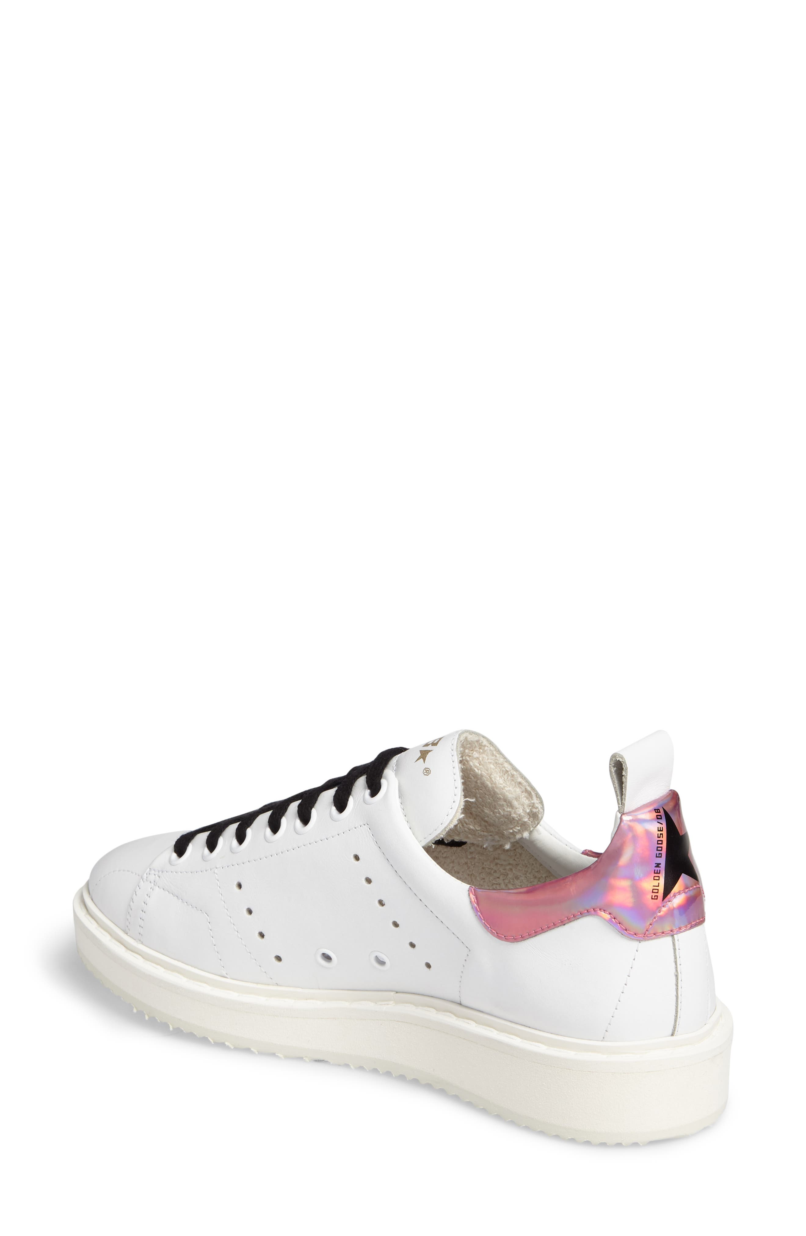 Starter Low Top Sneaker,                             Alternate thumbnail 2, color,                             White/ Pink Jelly