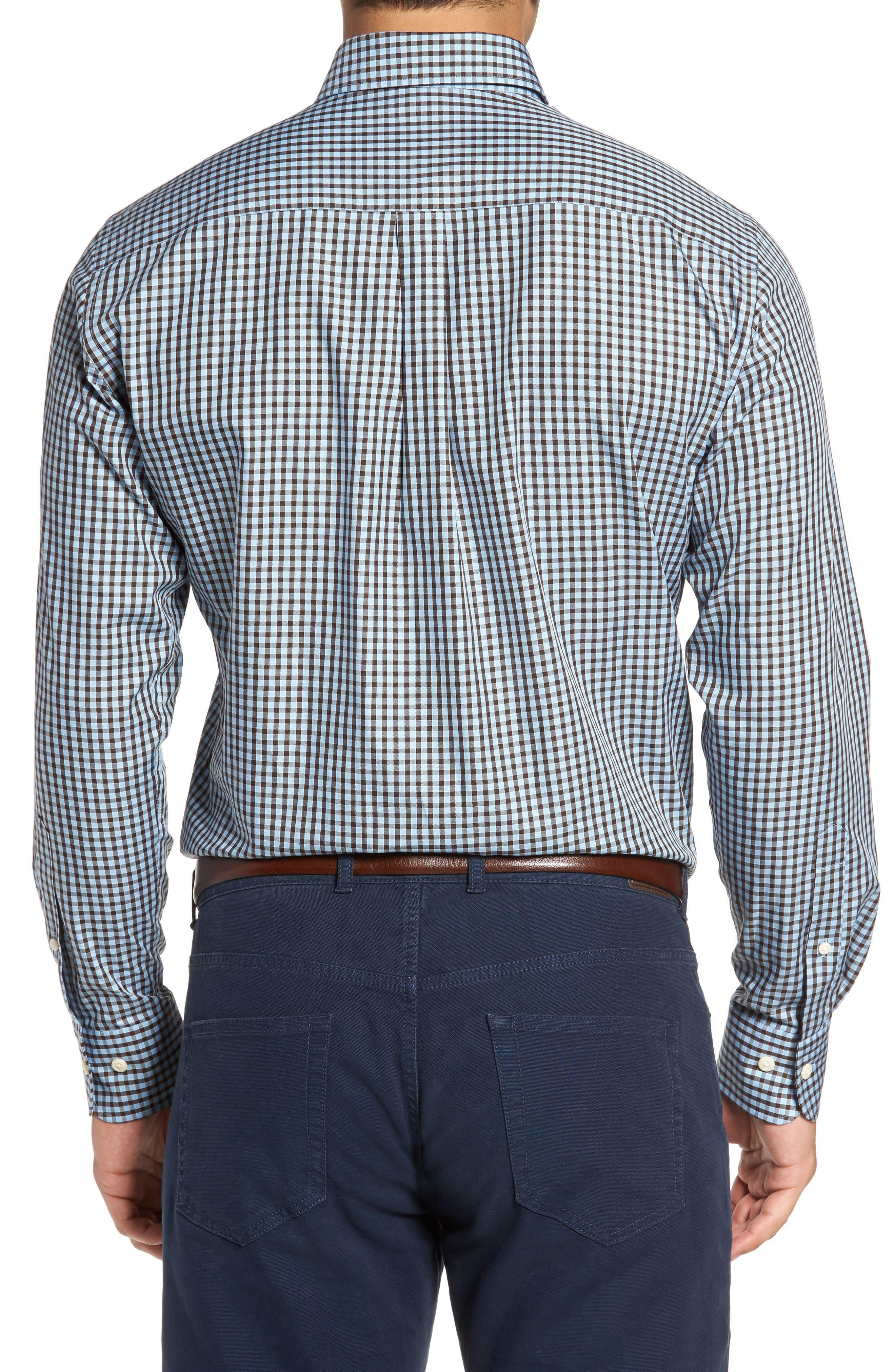 Alternate Image 2  - Peter Millar Midwinter Gingham Regular Fit Sport Shirt