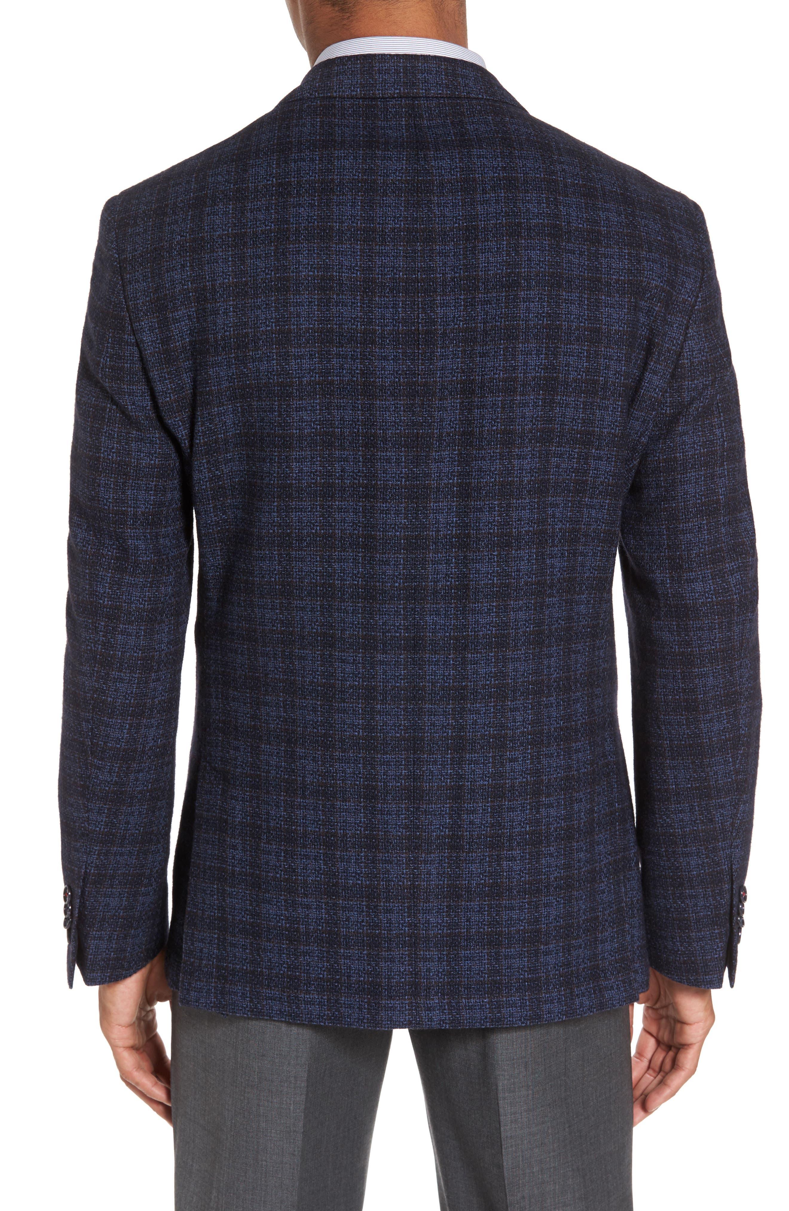 Alternate Image 2  - JKT New York Trim Fit Plaid Cotton Blend Sport Coat