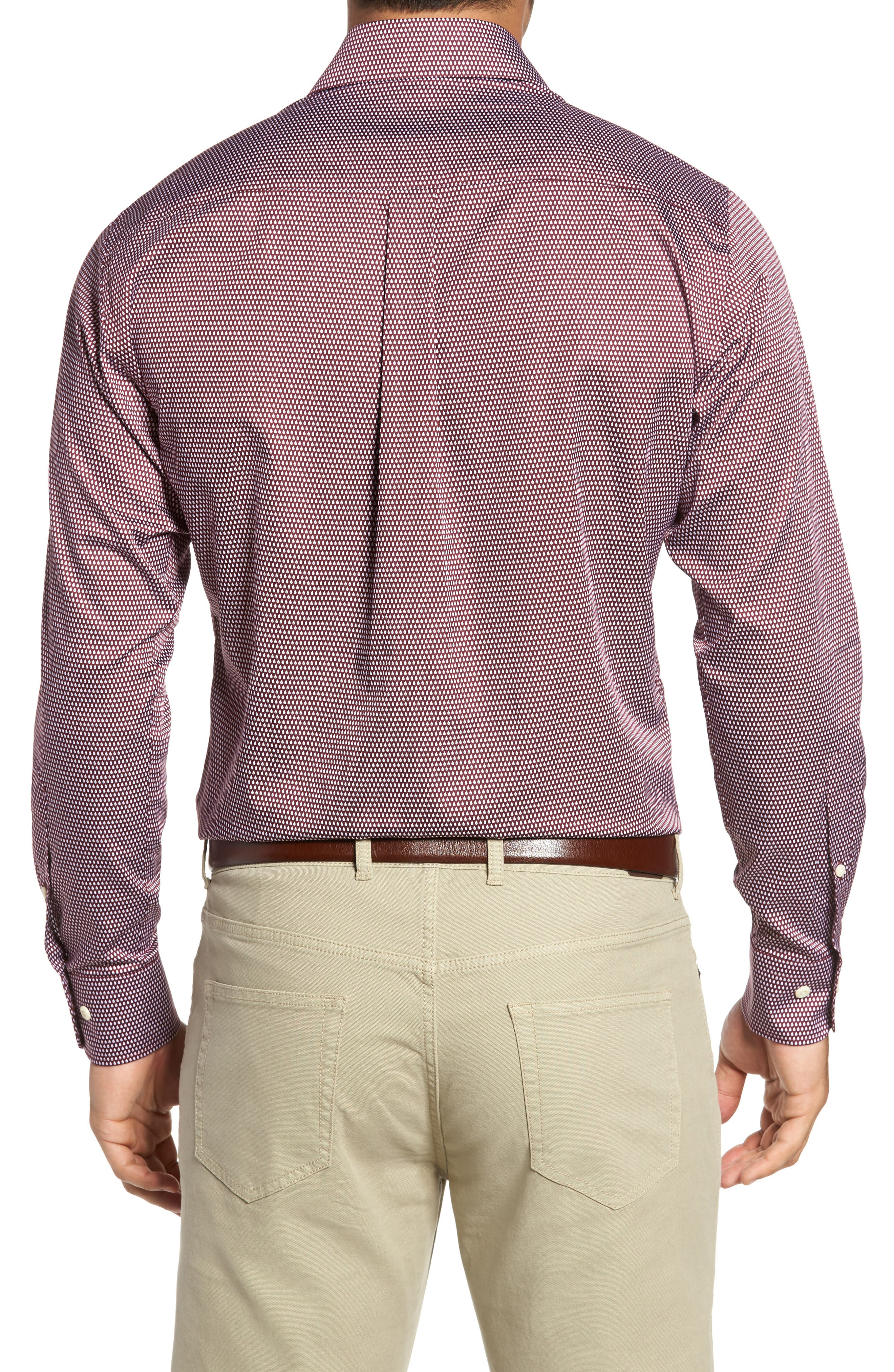 Single Flame Regular Fit Sport Shirt,                             Alternate thumbnail 2, color,                             French Wine