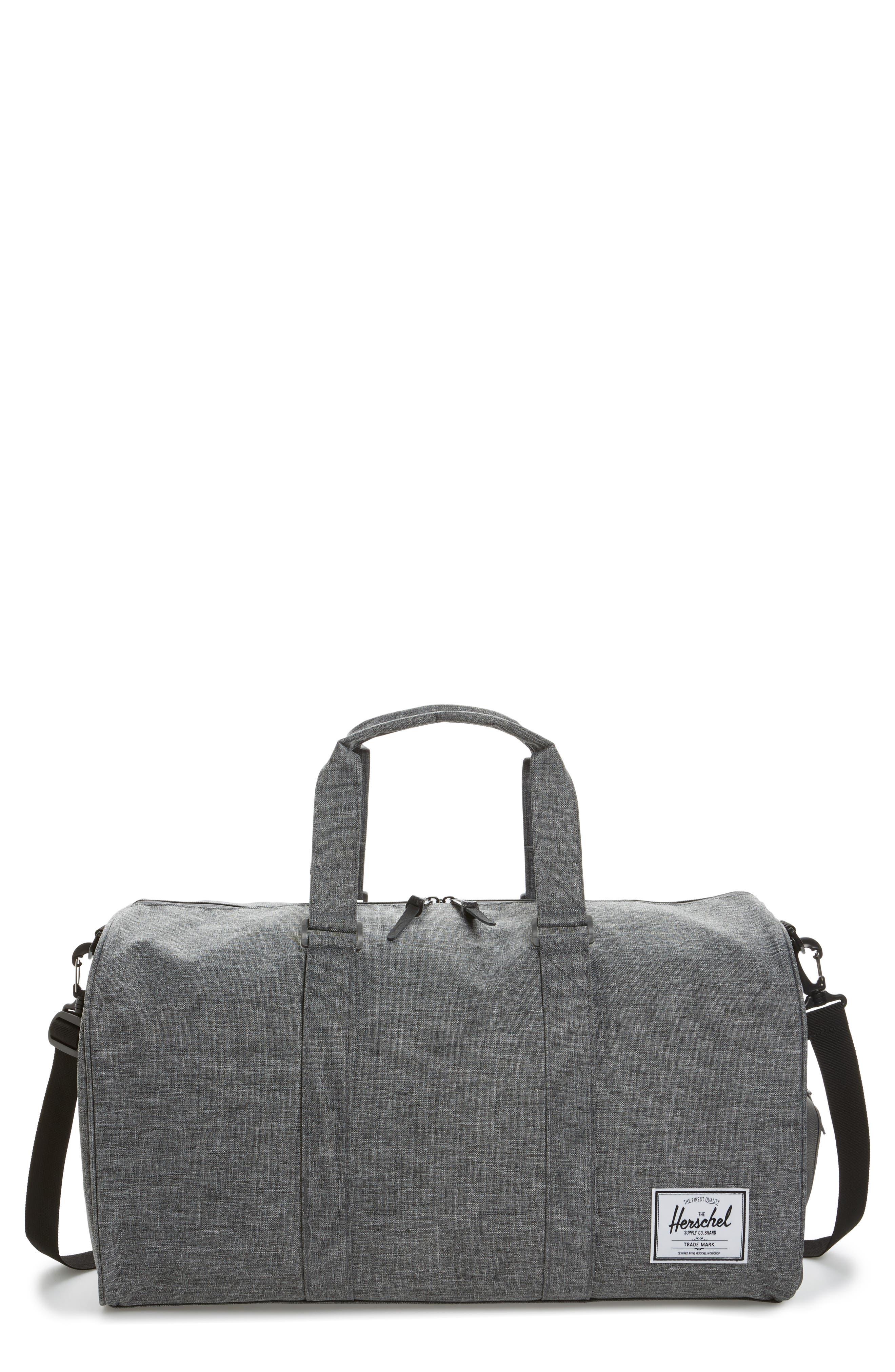 Novel Duffel Bag,                         Main,                         color, Raven Crosshatch