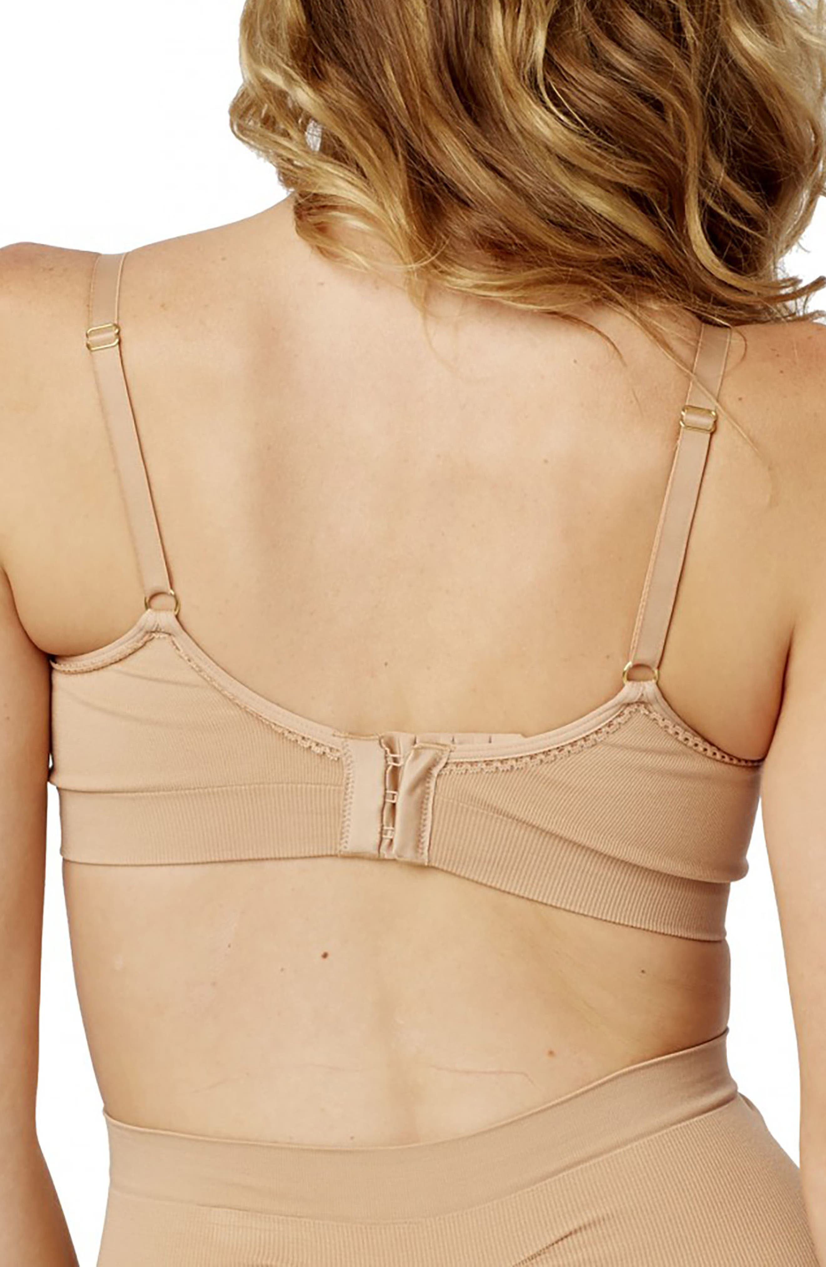 Every Day 2-Pack Seamless Maternity/Nursing Bra,                             Alternate thumbnail 2, color,                             Nude