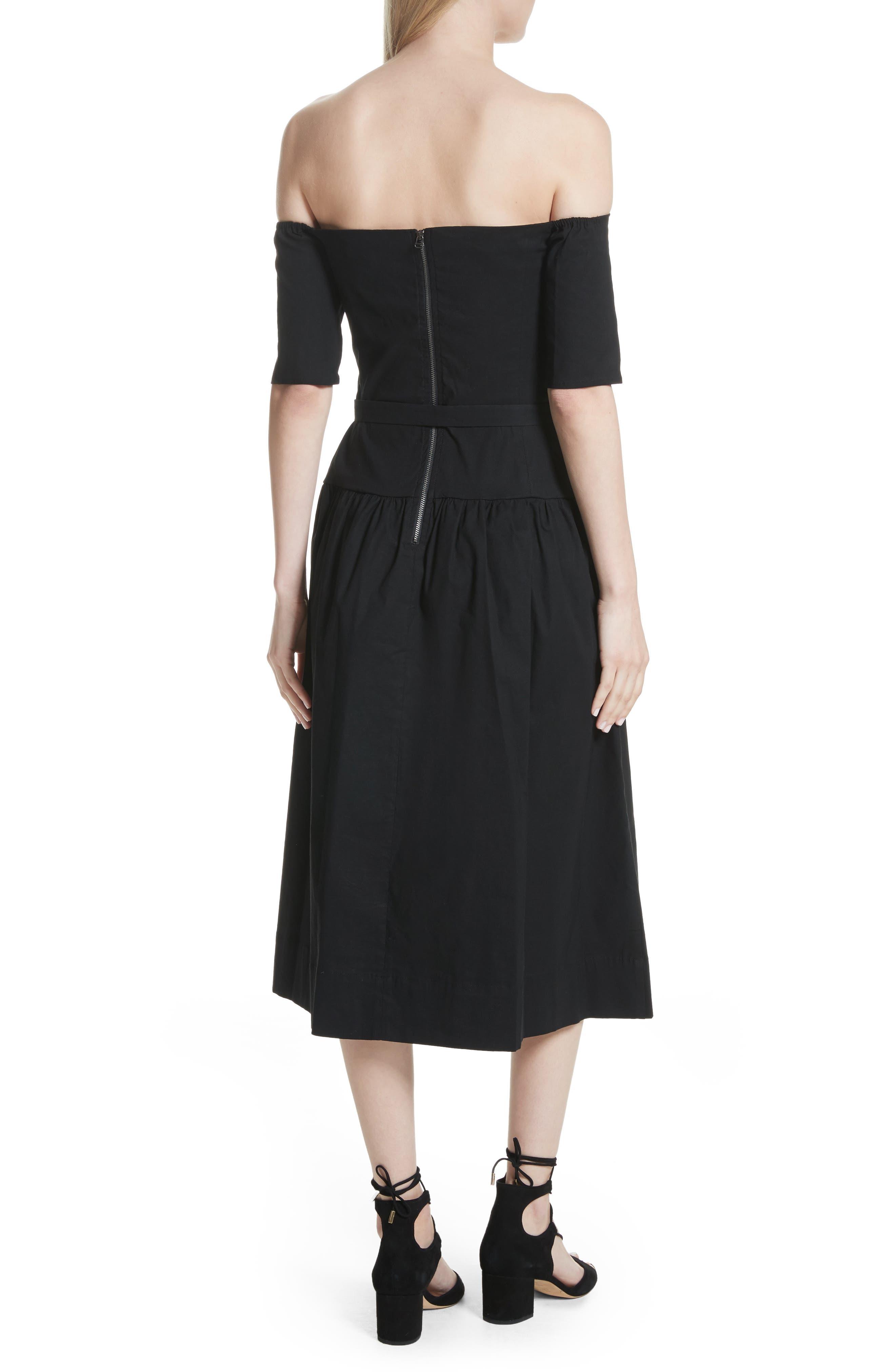 Strapless Dress,                             Alternate thumbnail 2, color,                             Black