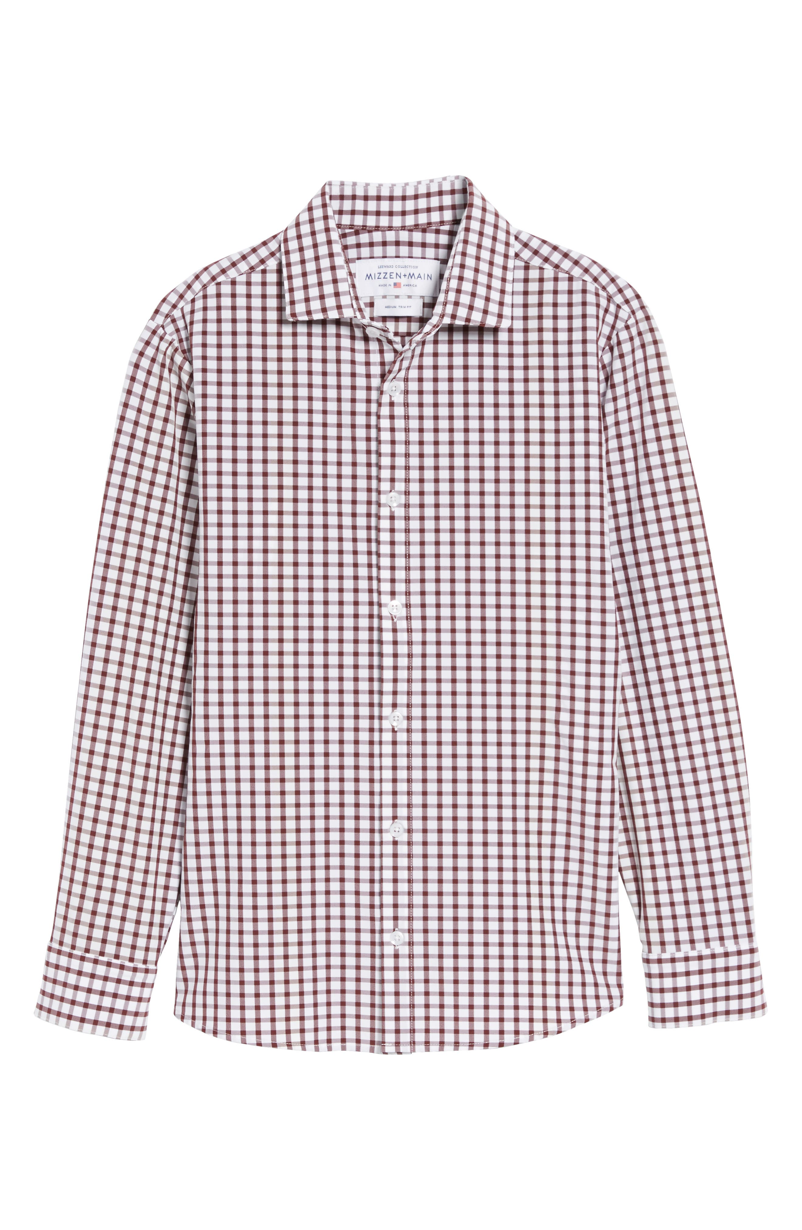 Cooper Check Performance Sport Shirt,                             Alternate thumbnail 6, color,                             Red