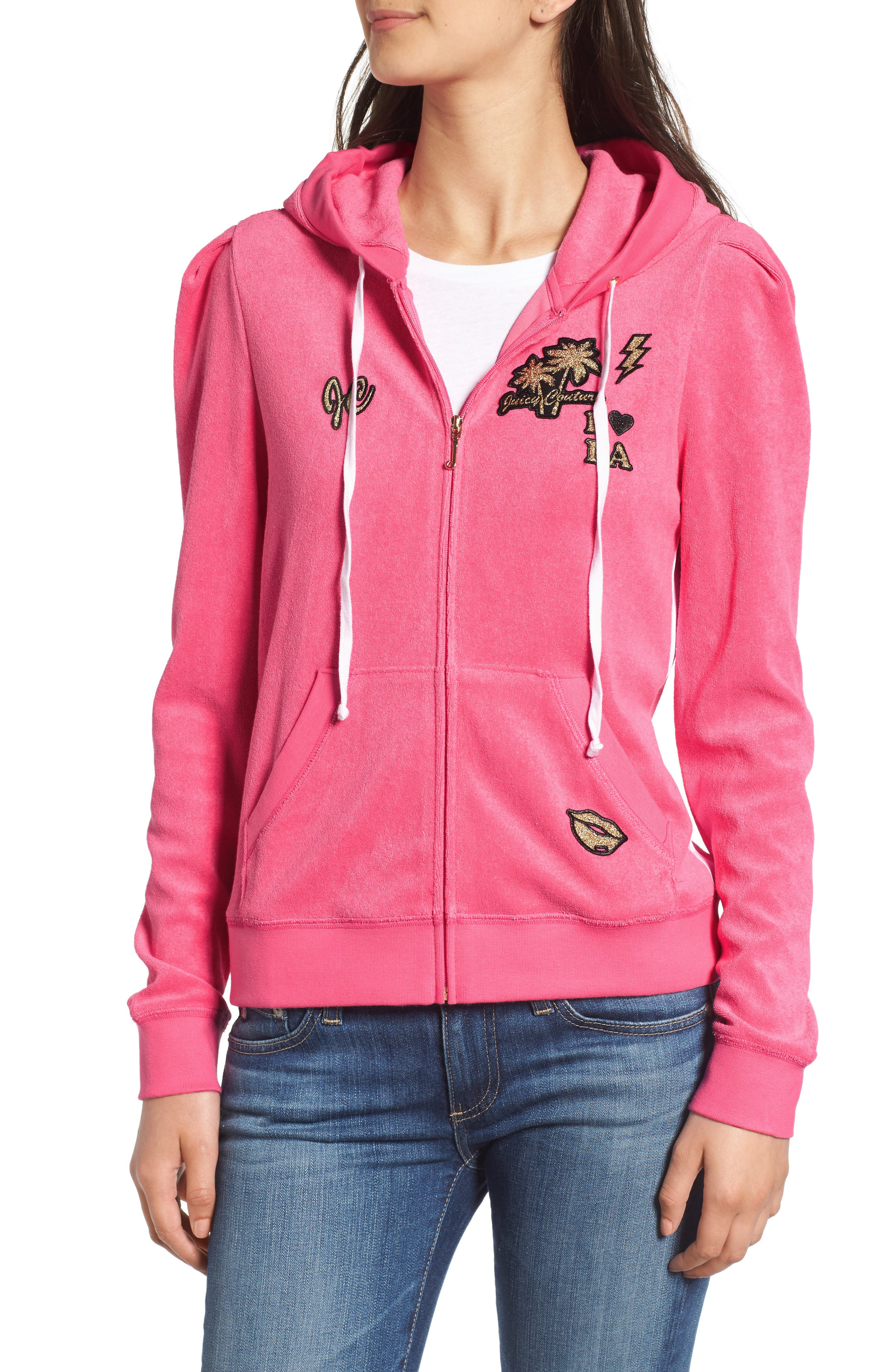 Alternate Image 4  - Juicy Couture Venice Beach Microterry Hoodie