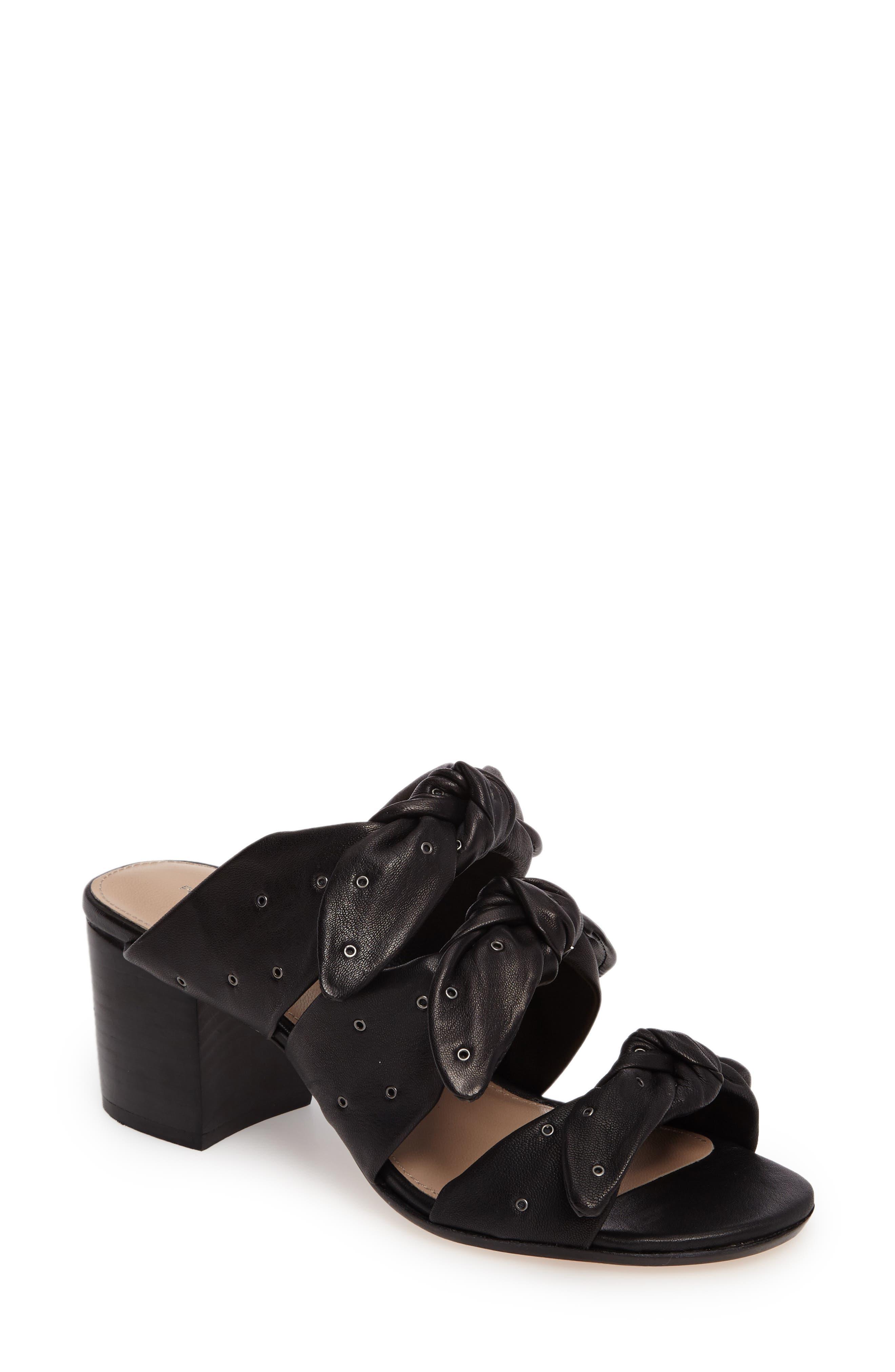 Pour la Victore Amal Block Heel Sandal,                         Main,                         color, Black