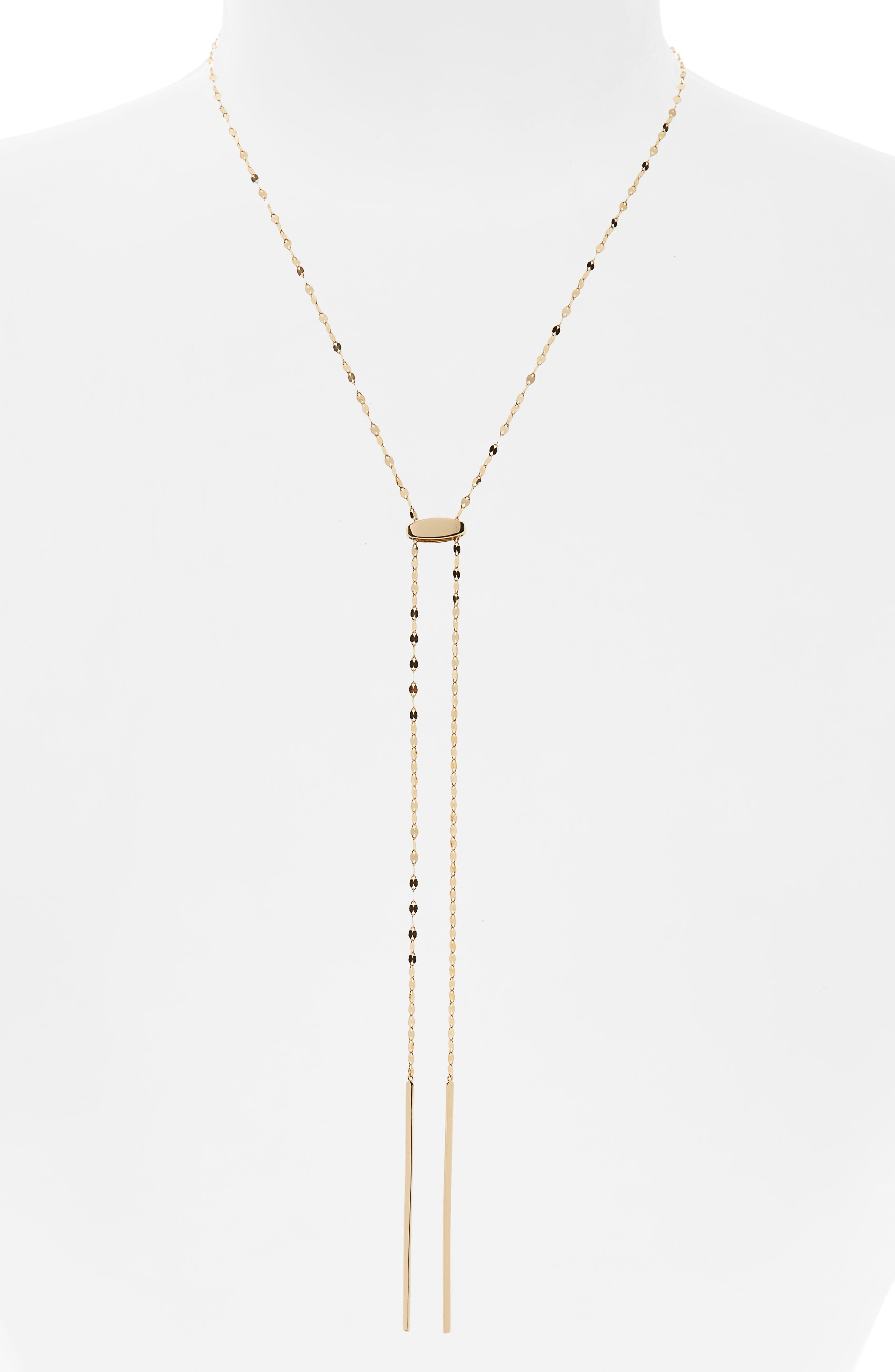 Blake Tie Up Lariat Necklace,                         Main,                         color, Yellow Gold