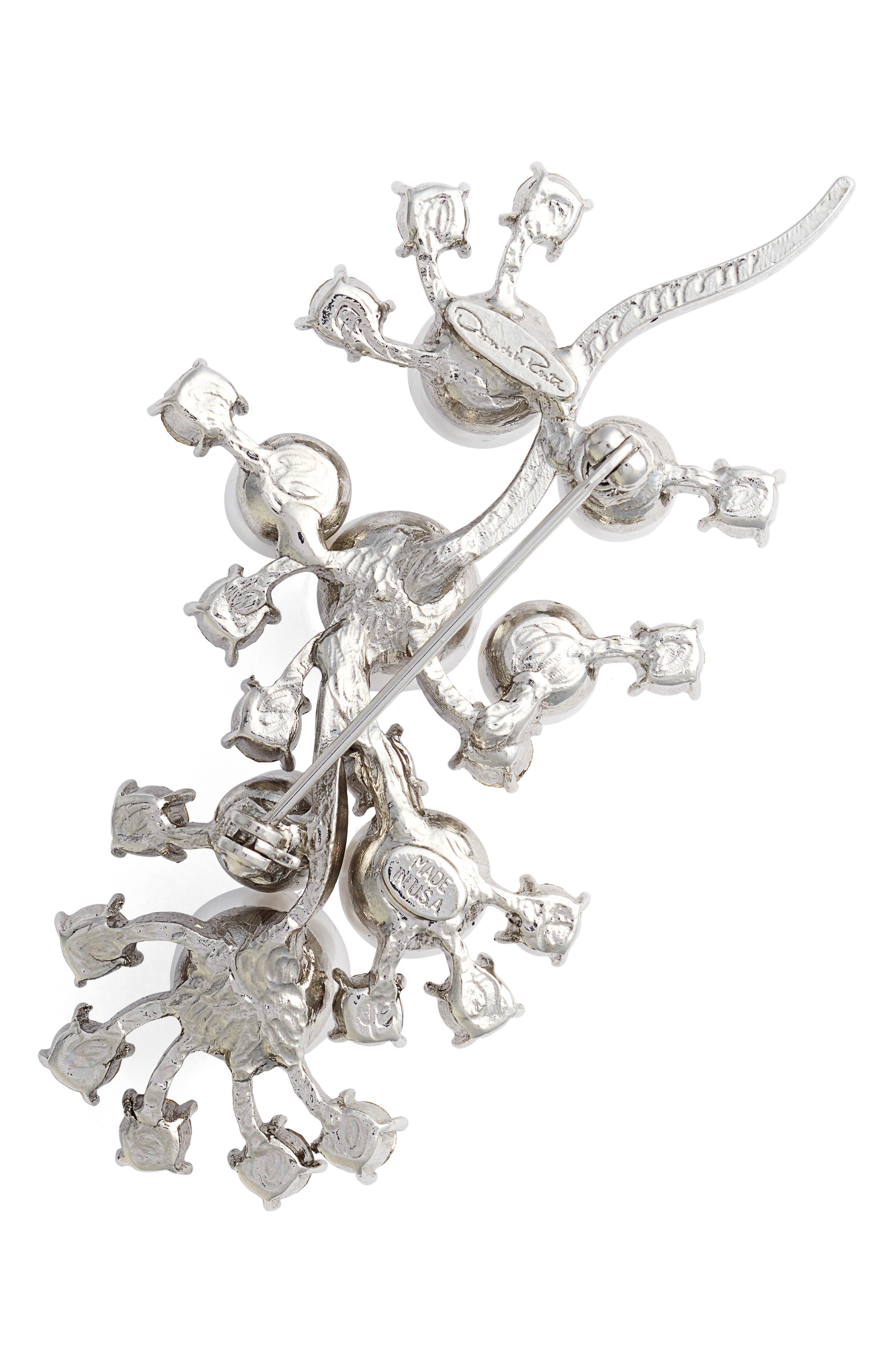 Alternate Image 2  - Oscar de la Renta Scattered Imitation Pearl & Crystal Brooch