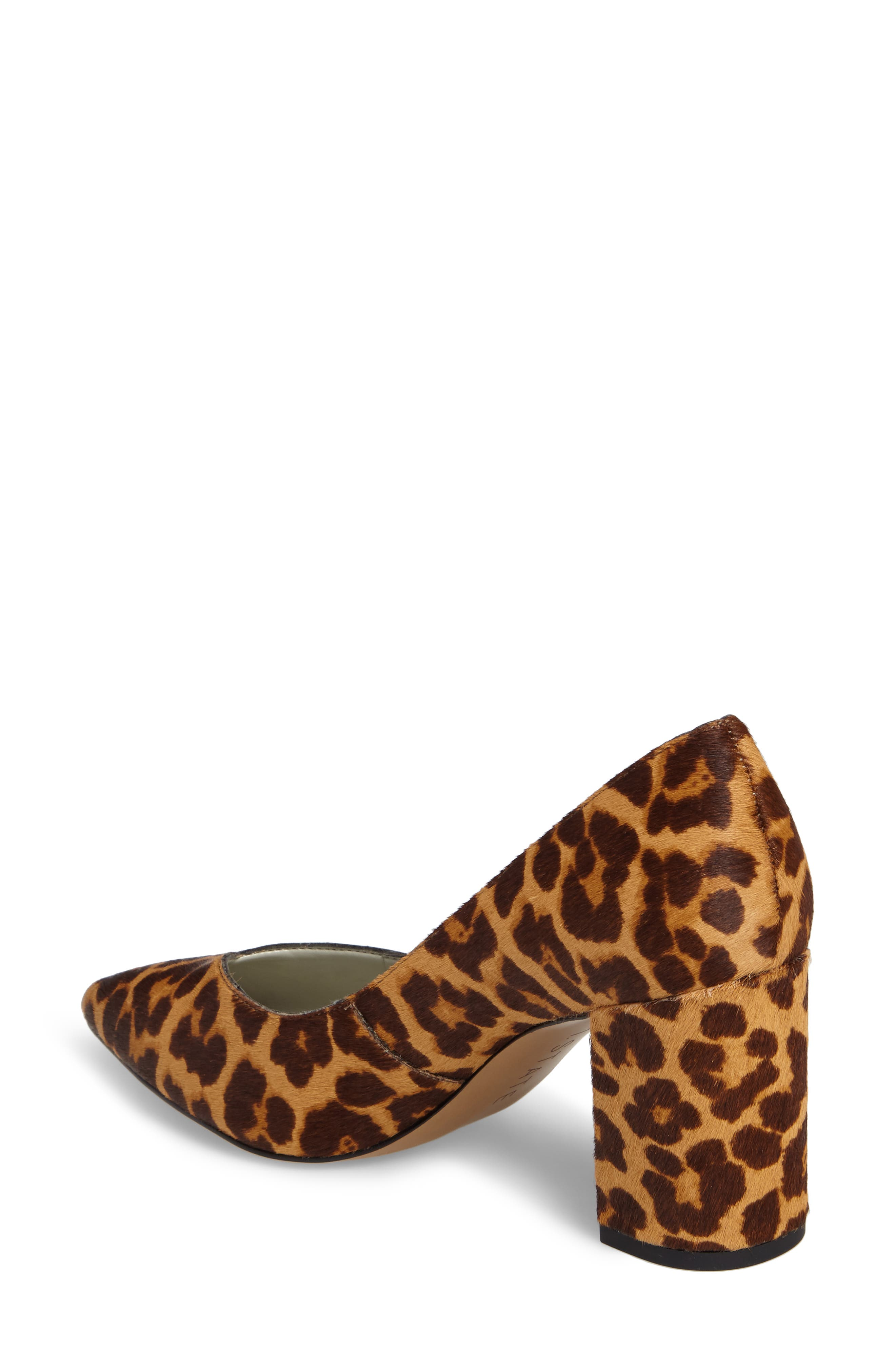 Saffy 2 Genuine Calf Hair Pump,                             Alternate thumbnail 2, color,                             Leopard