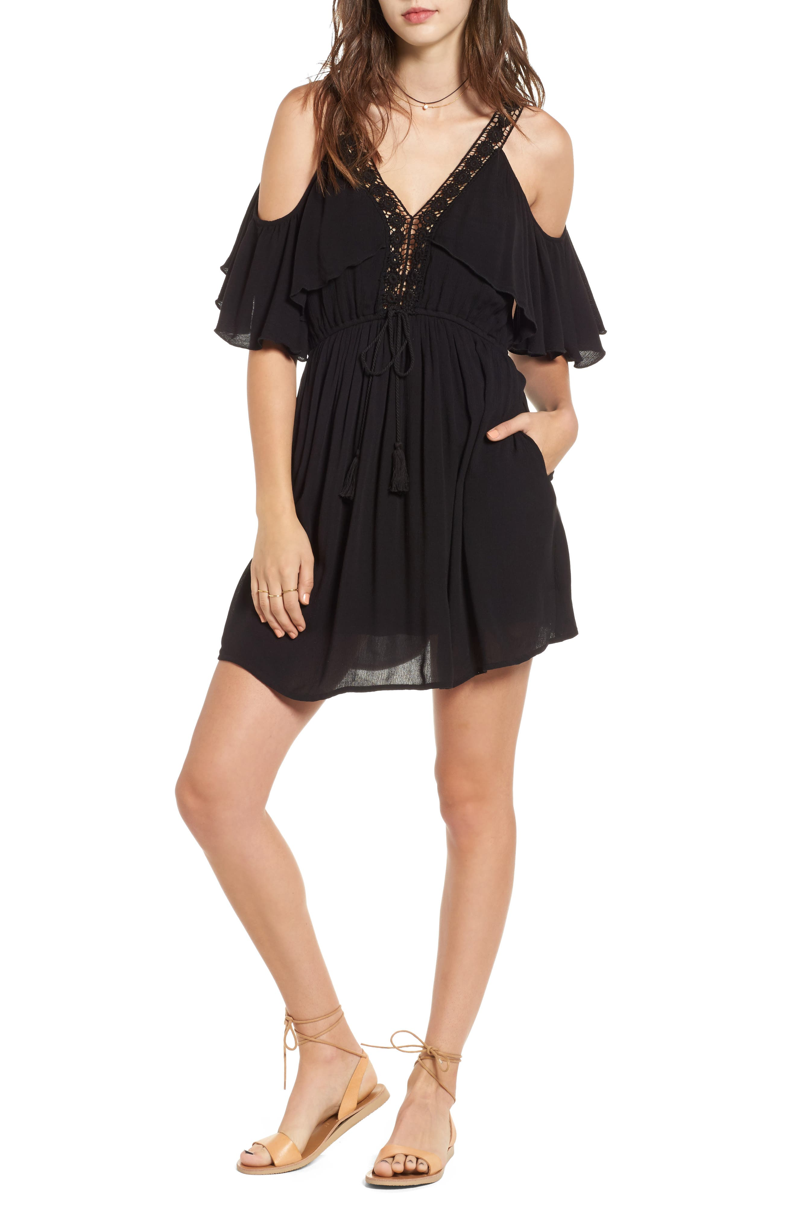 BAND OF GYPSIES Cold Shoulder Dress