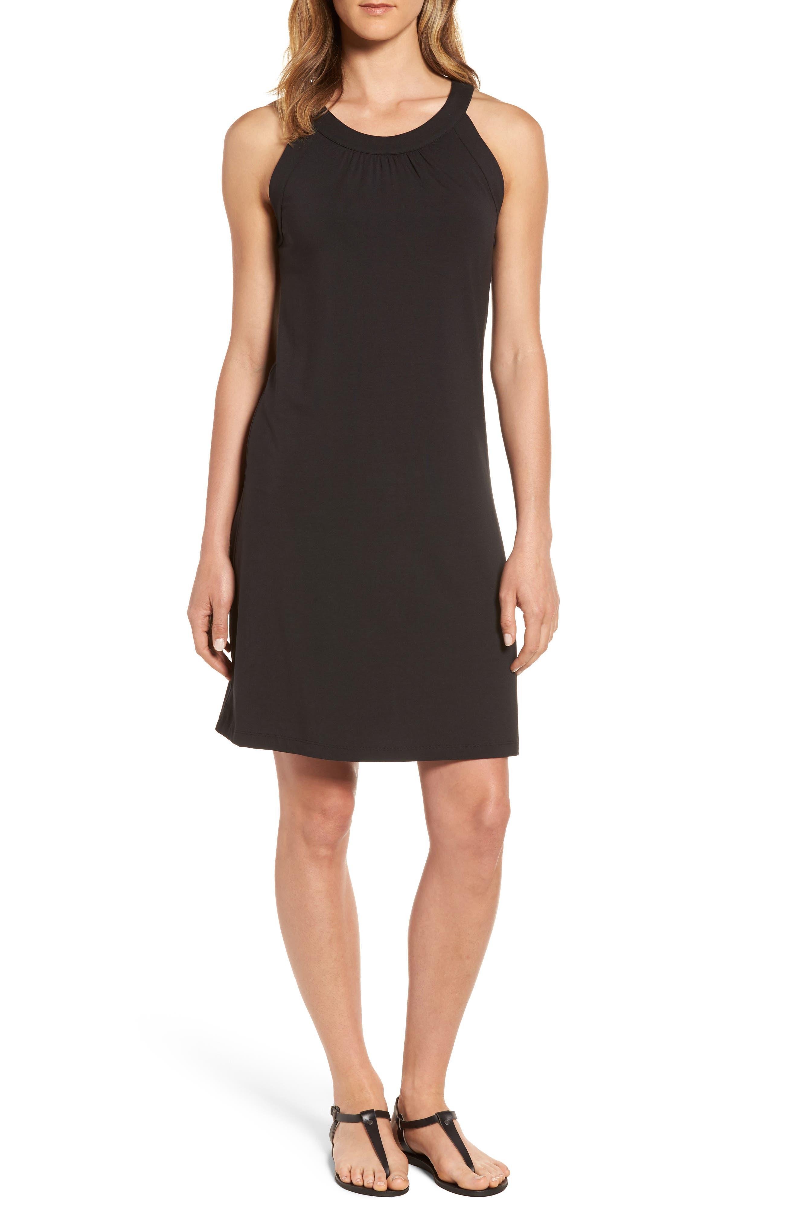 Tambour Tank Dress,                             Main thumbnail 1, color,                             Black