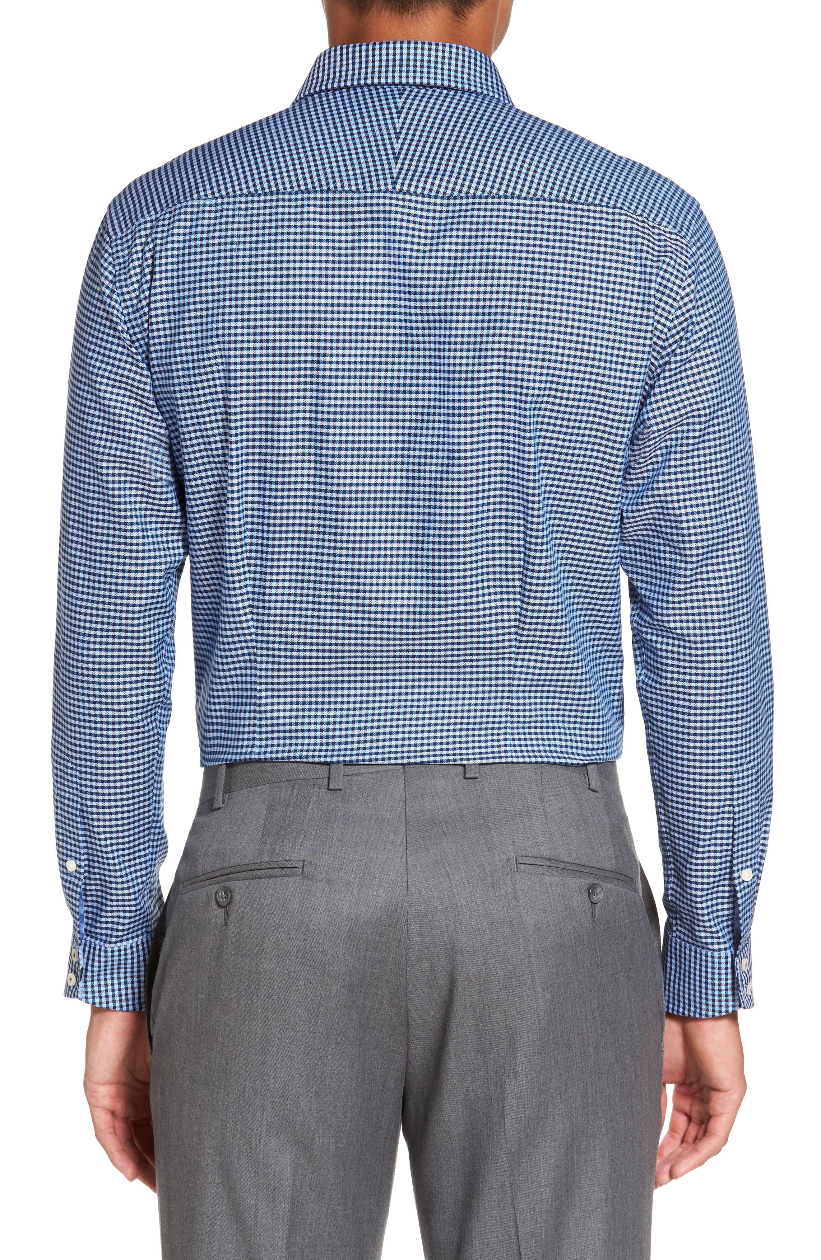 Endurance Sterling Trim Fit Dress Shirt,                             Alternate thumbnail 3, color,                             Blue