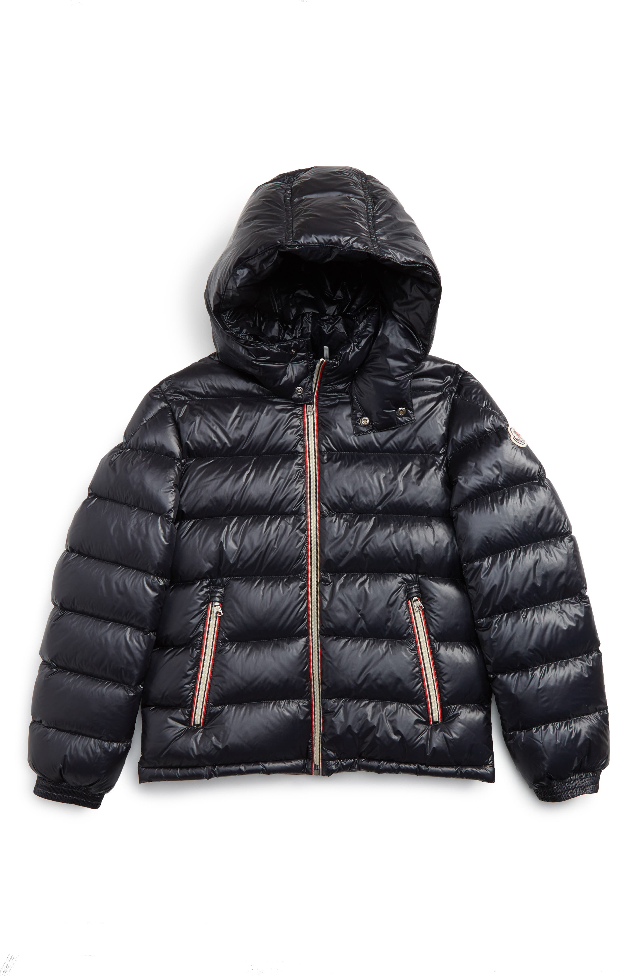 New Gaston Hooded Water Resistant Down Jacket,                         Main,                         color, Navy