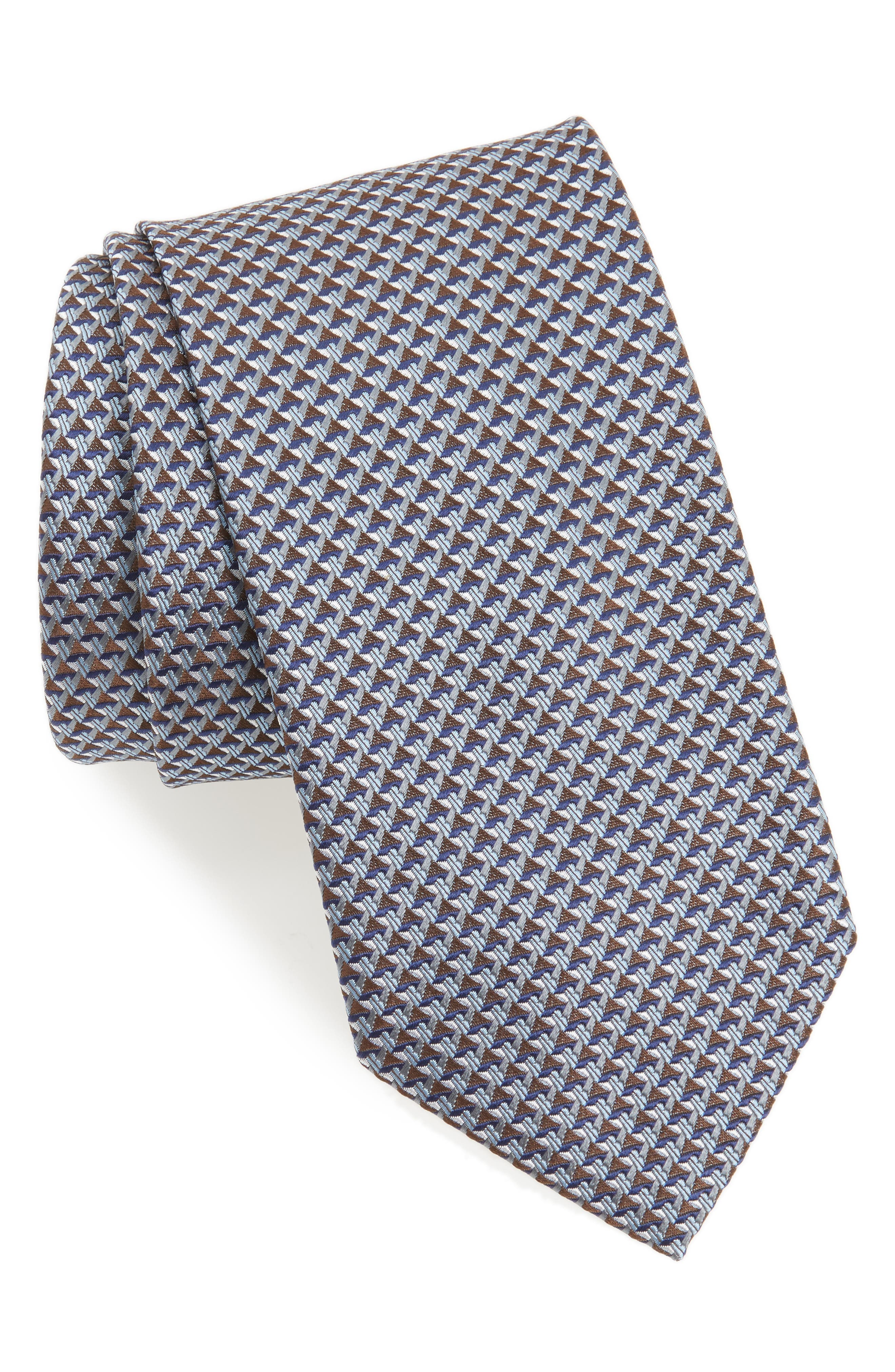 Alternate Image 1 Selected - Brioni Geometric Silk Tie