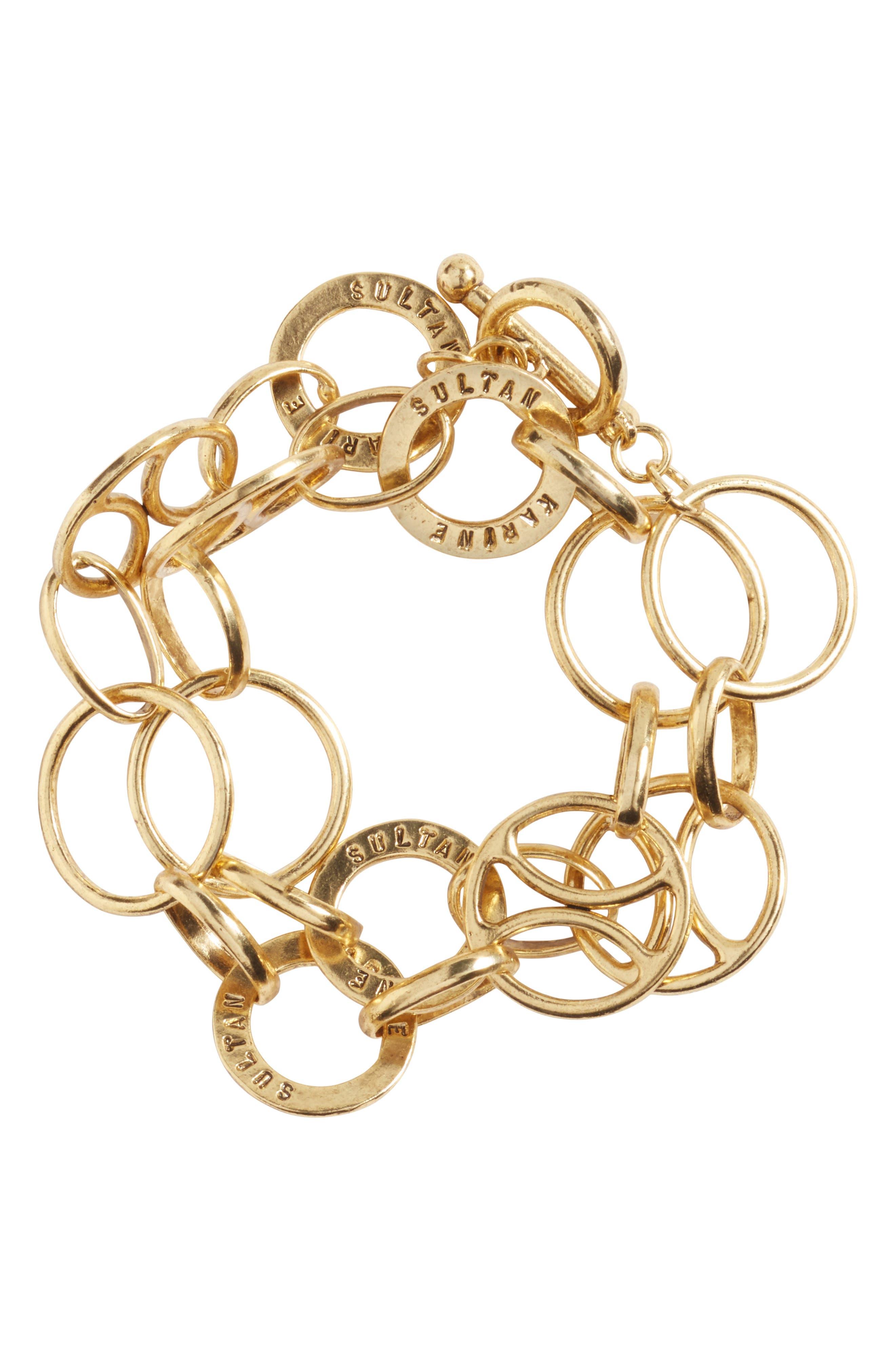 Karine Sultan Link Wrap Bracelet