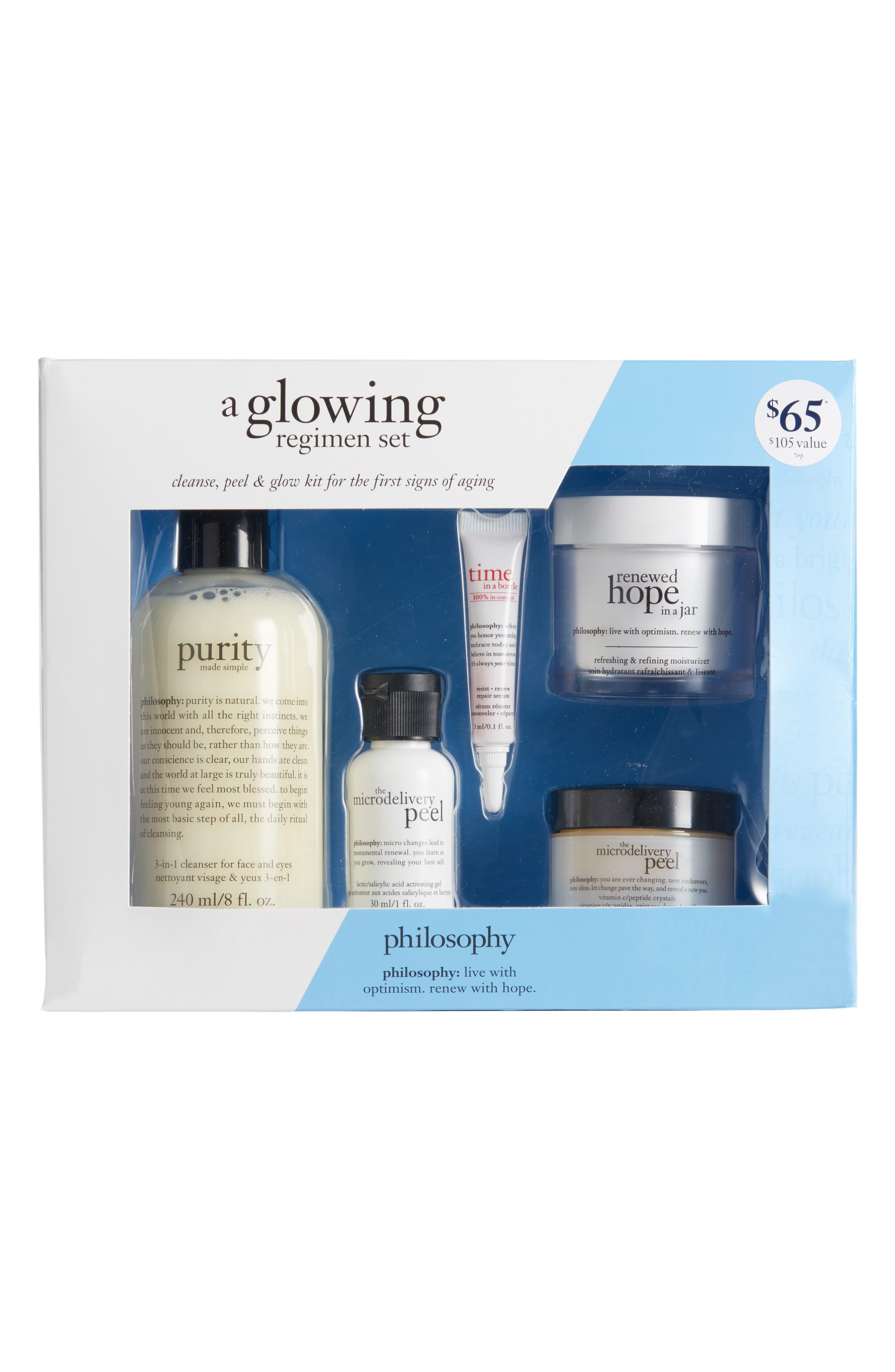 Main Image - philosophy glowing regimen set ($105 Value)