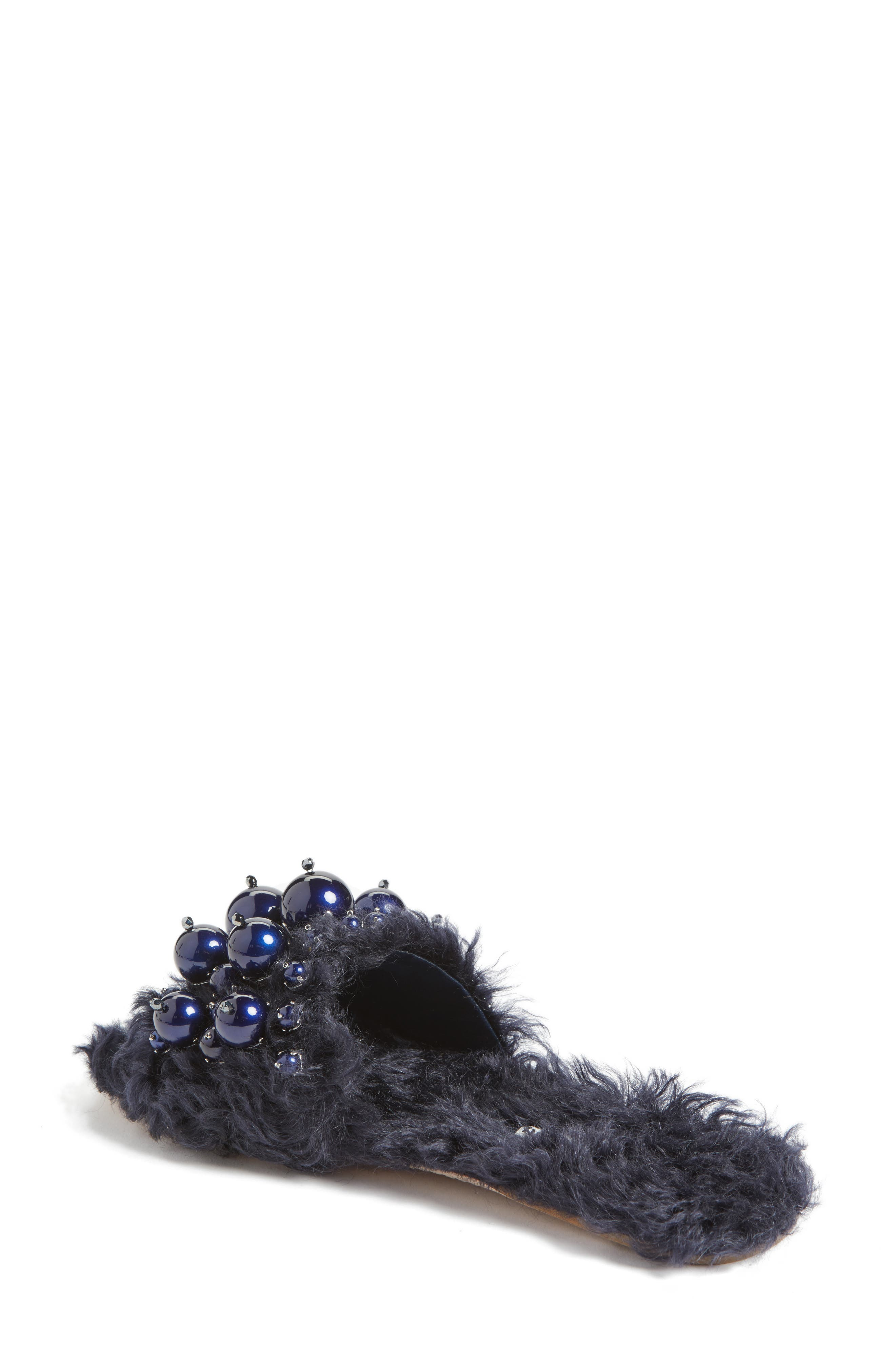 Alternate Image 2  - Miu Miu Embellished Faux Fur Slipper (Women)