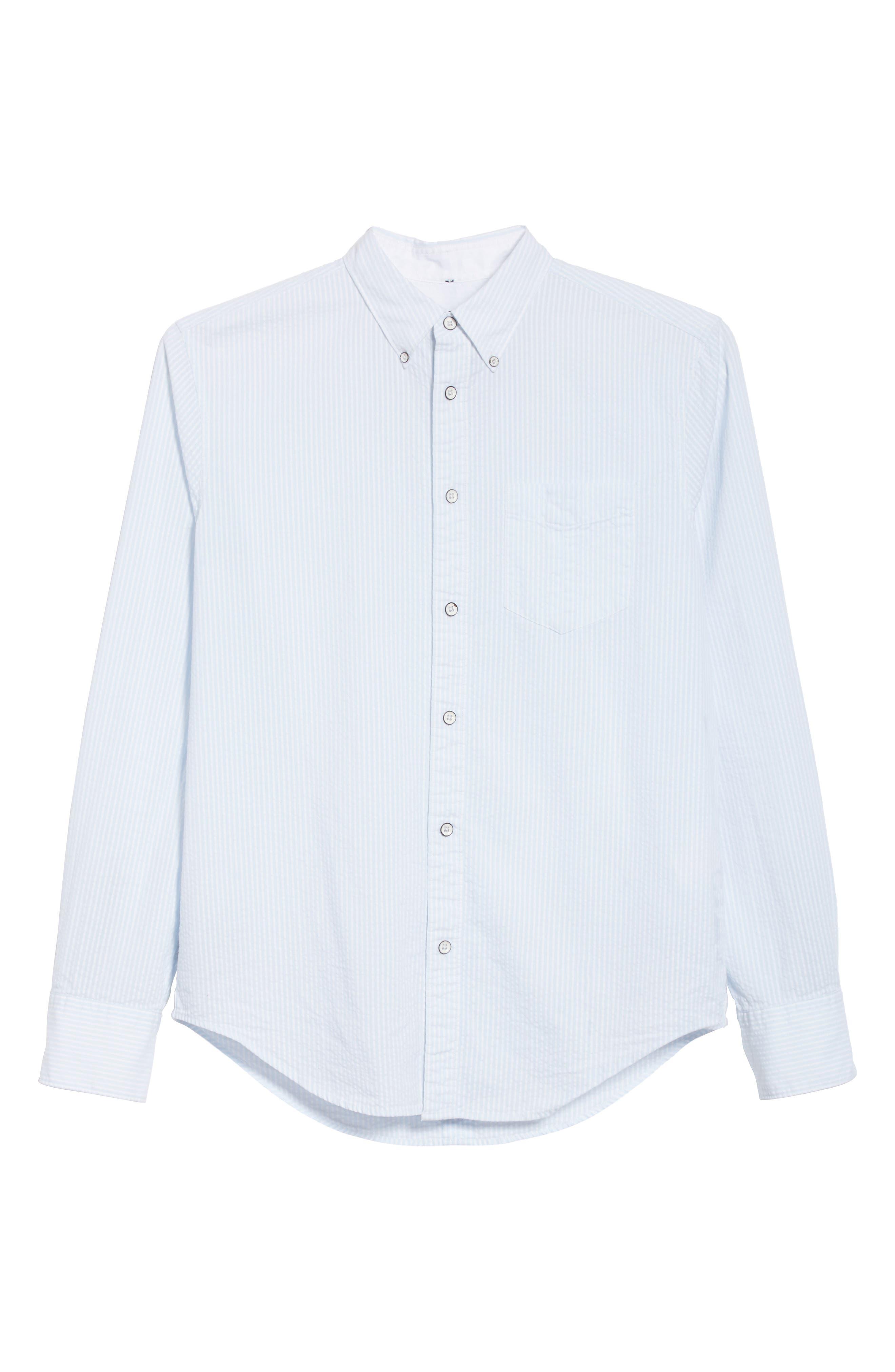 Yokohama Stripe Sport Shirt,                             Alternate thumbnail 6, color,                             Blue