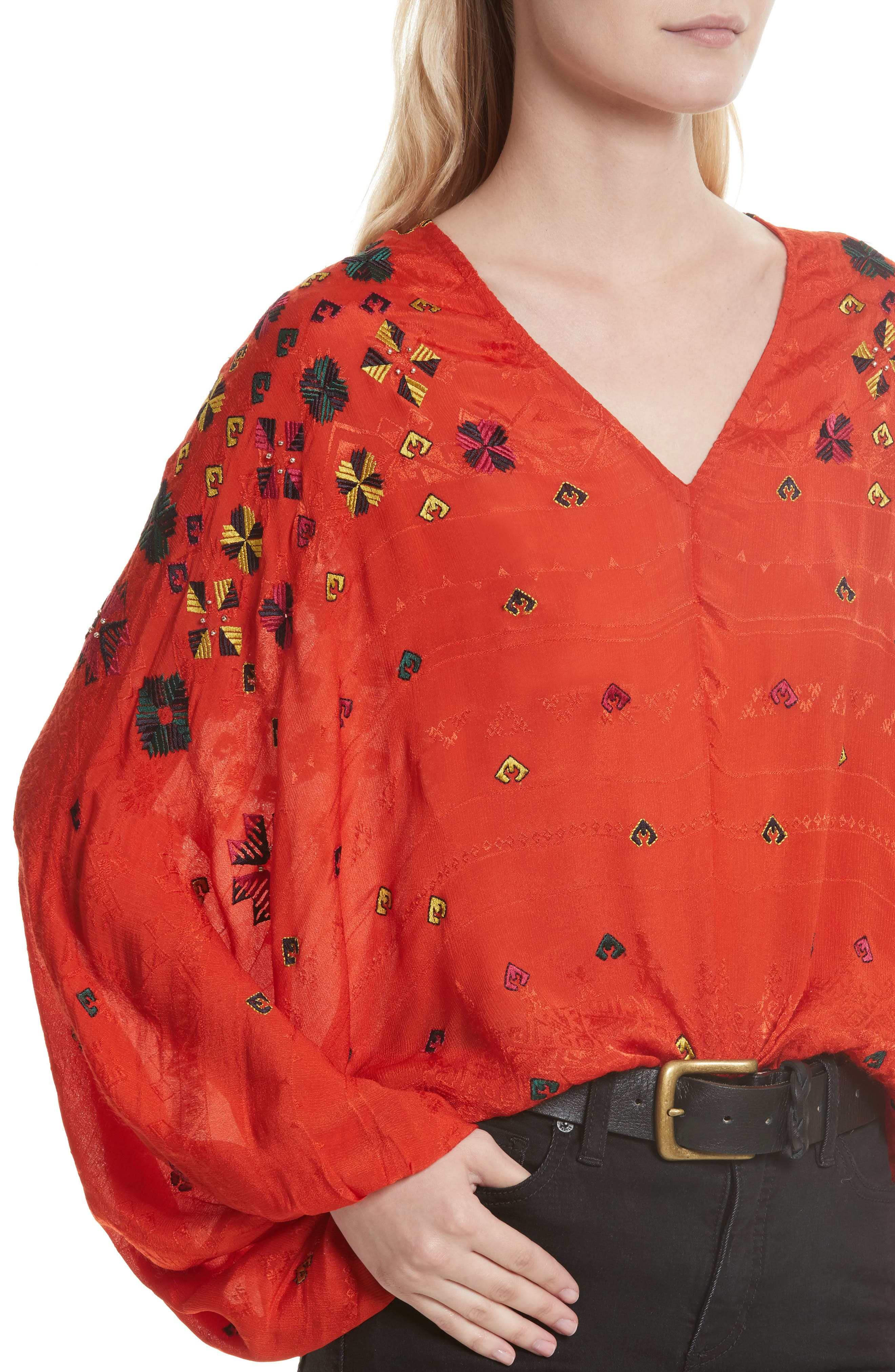 Alternate Image 5  - Free People Music in Time Embroidered Top