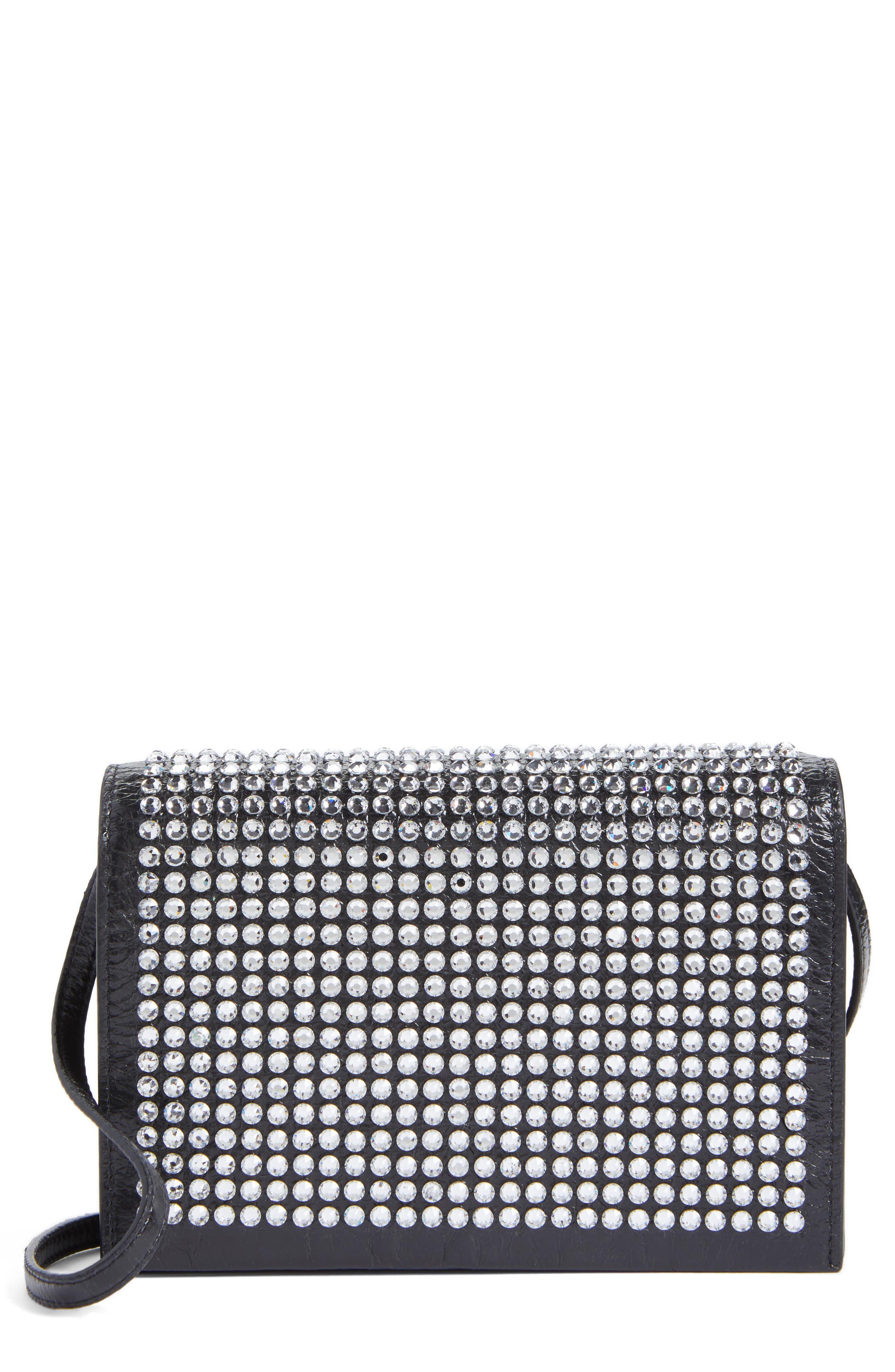Saint Laurent Toy Kate Crystal Embellished Leather Crossbody Bag
