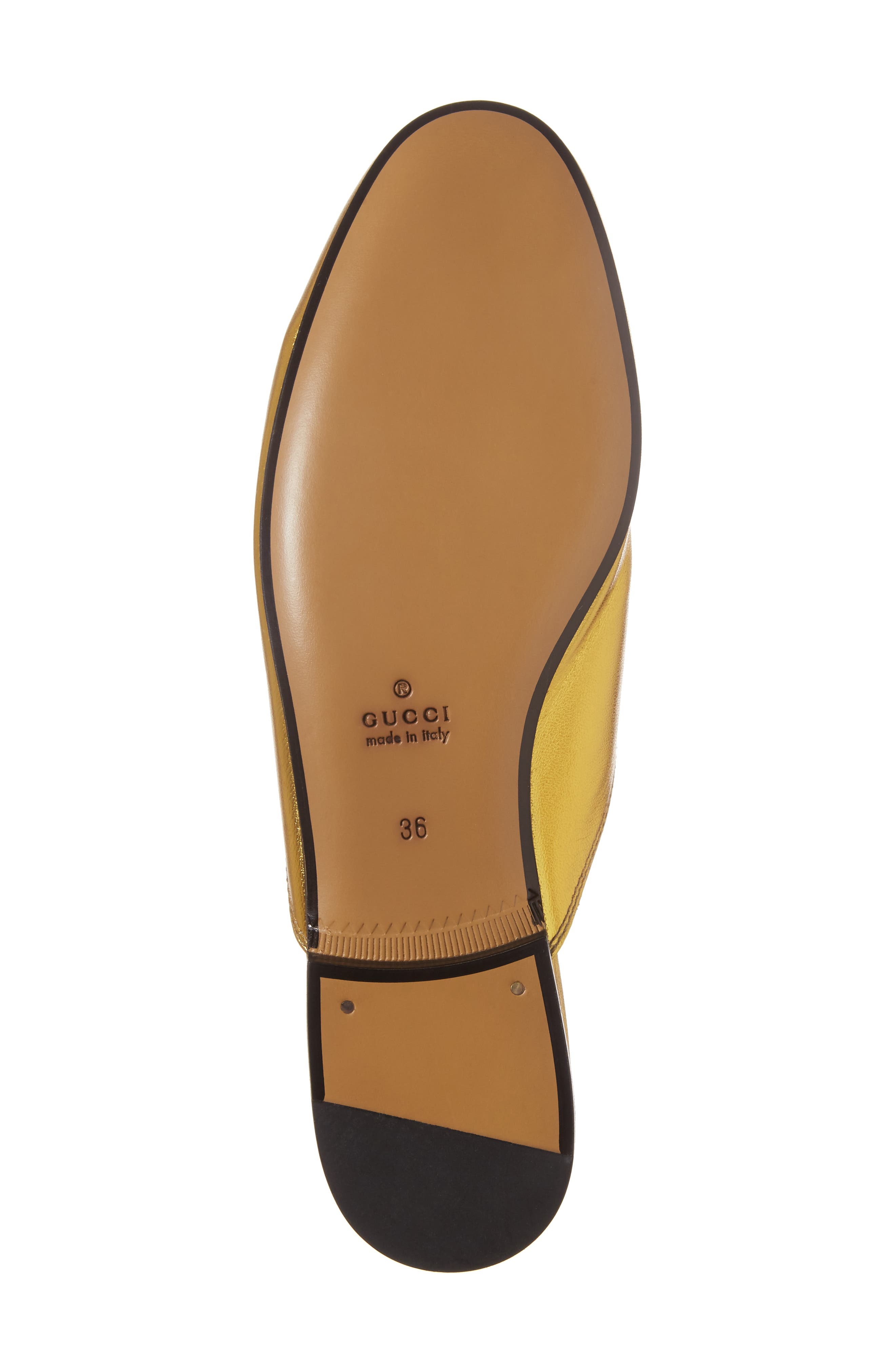 Princetown Loafer Mule,                             Alternate thumbnail 6, color,                             Metallic Gold Leather