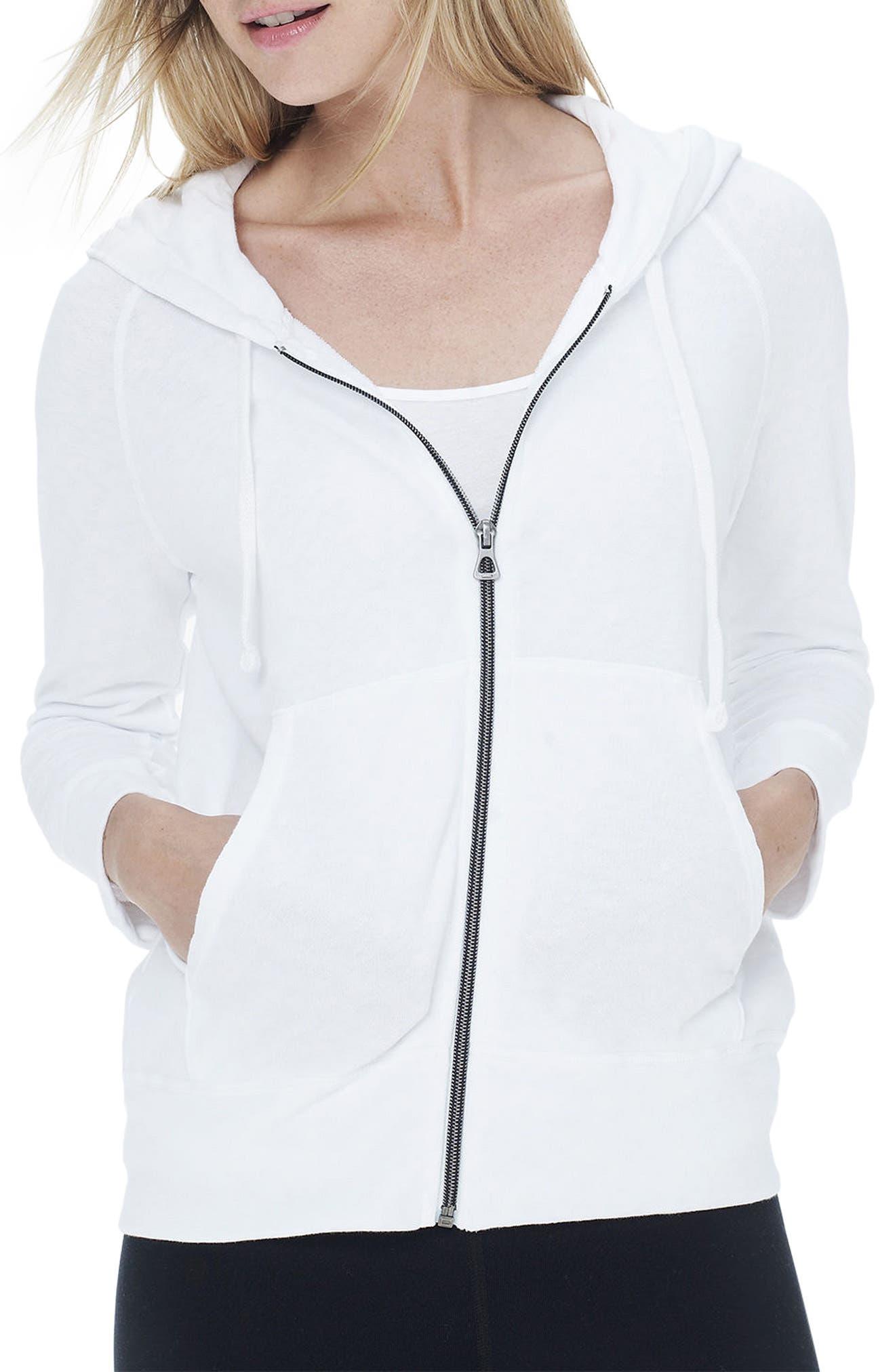 Alternate Image 1 Selected - James Perse Full Zip Cotton Hoodie