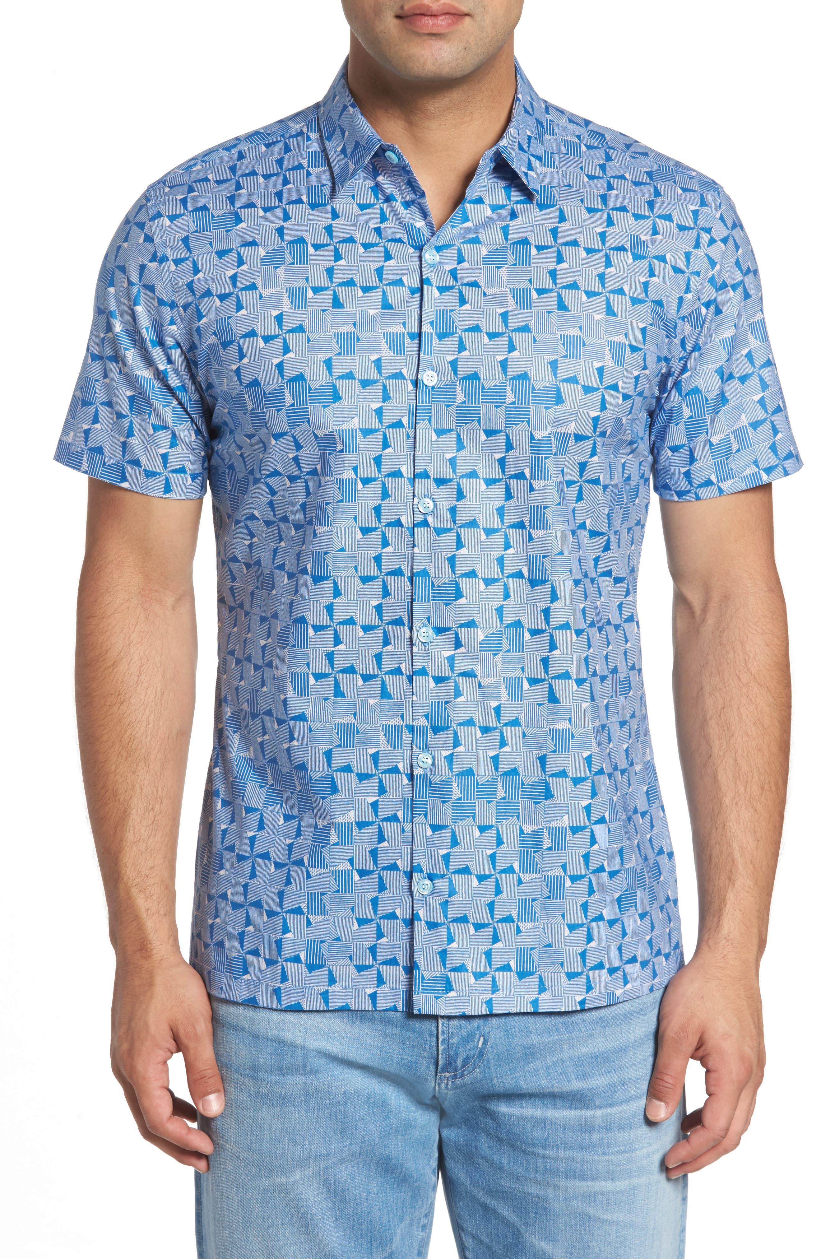 Tori Richard Maunulua Kapa Slim Fit Camp Shirt