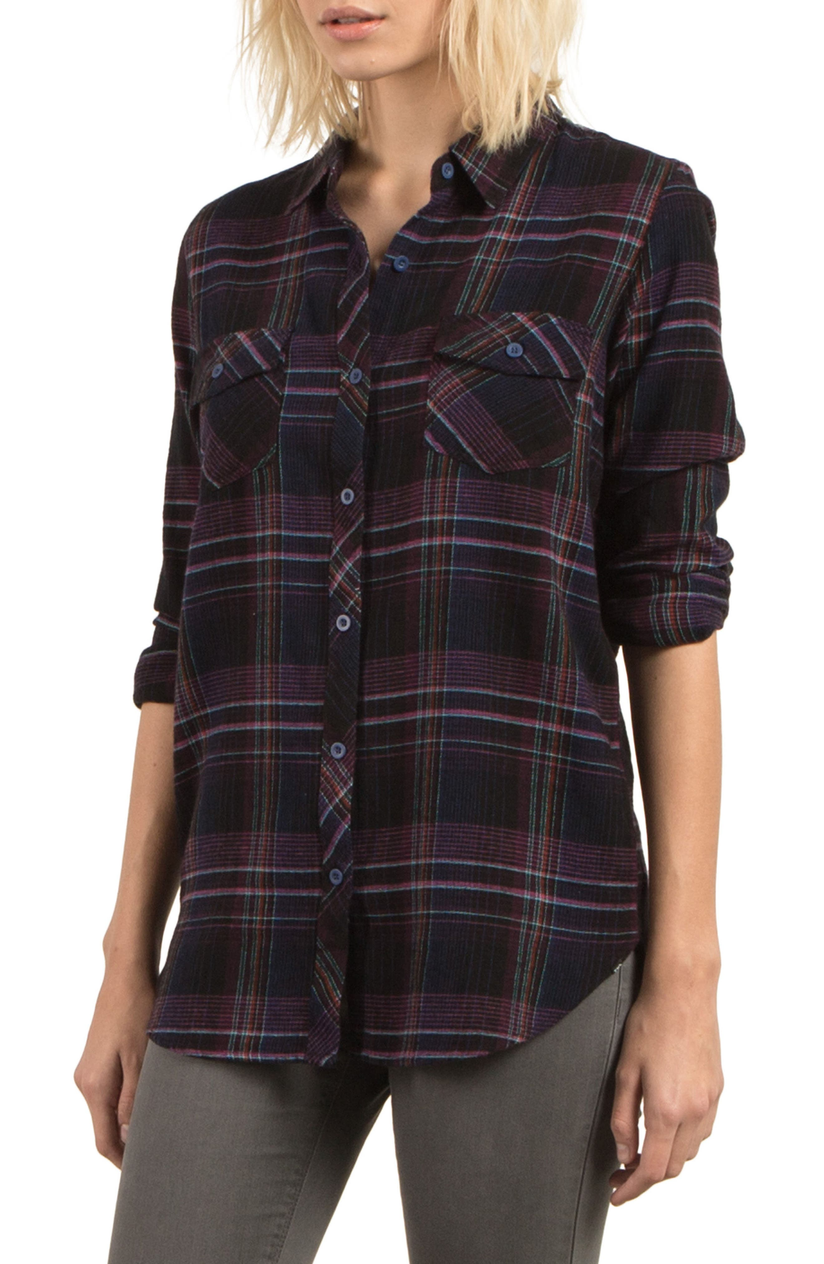 Volcom Desert Fly Plaid Top