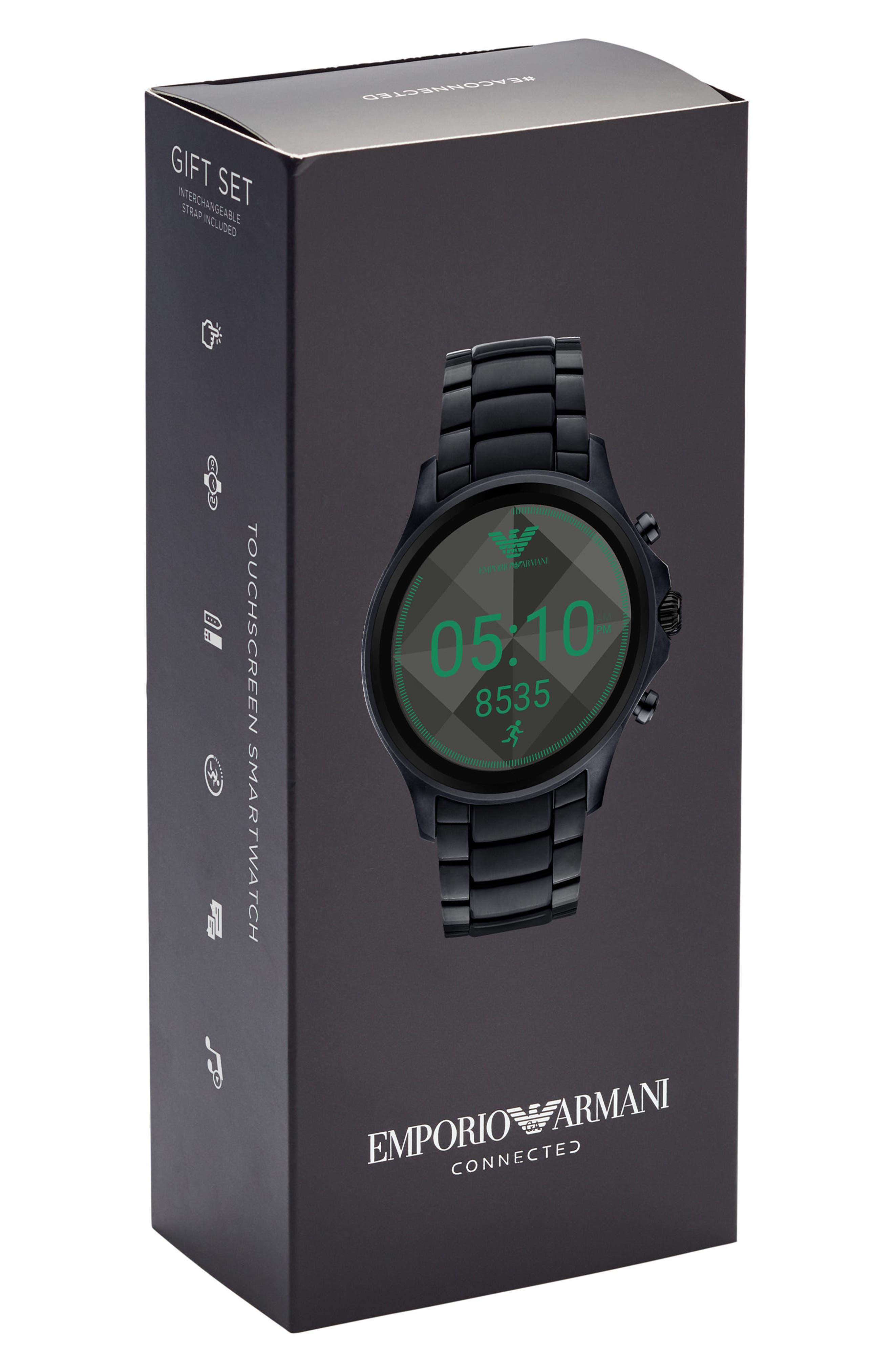 Alternate Image 5  - Emporio Armani Touchscreen Bracelet Smartwatch, 46mm