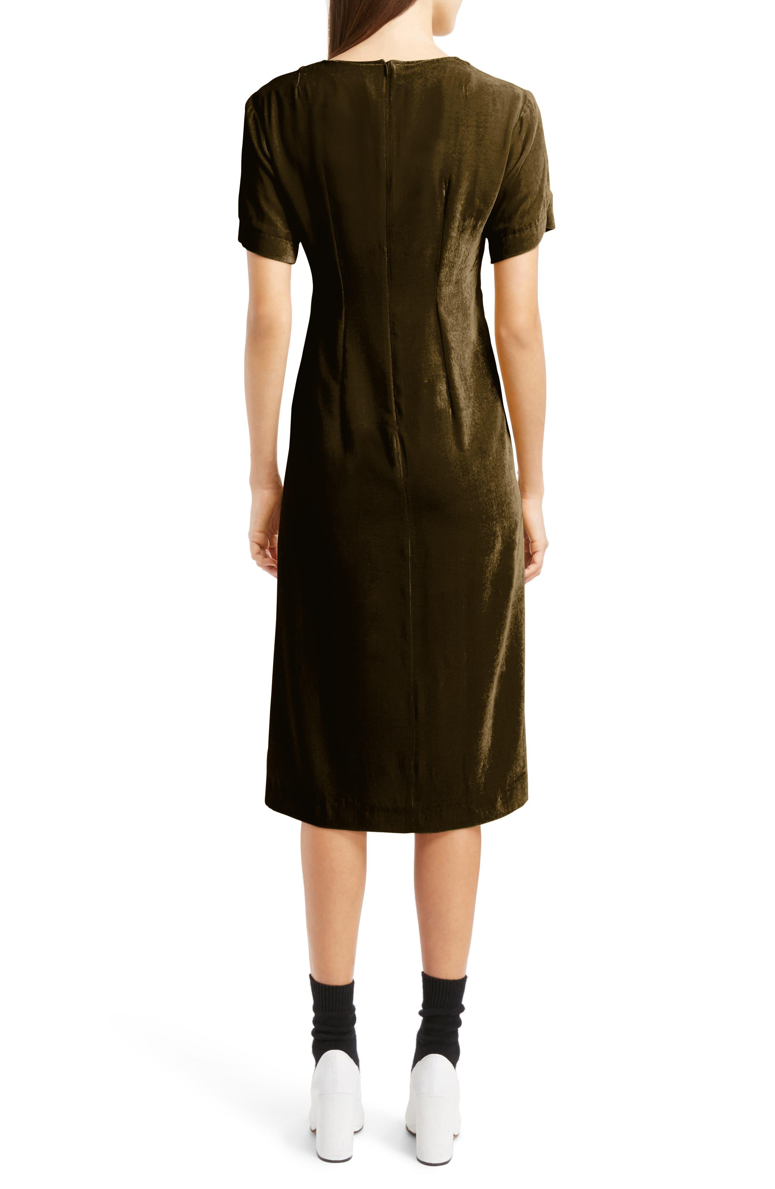 Alternate Image 2  - Dries Van Noten Gathered Velvet Dress