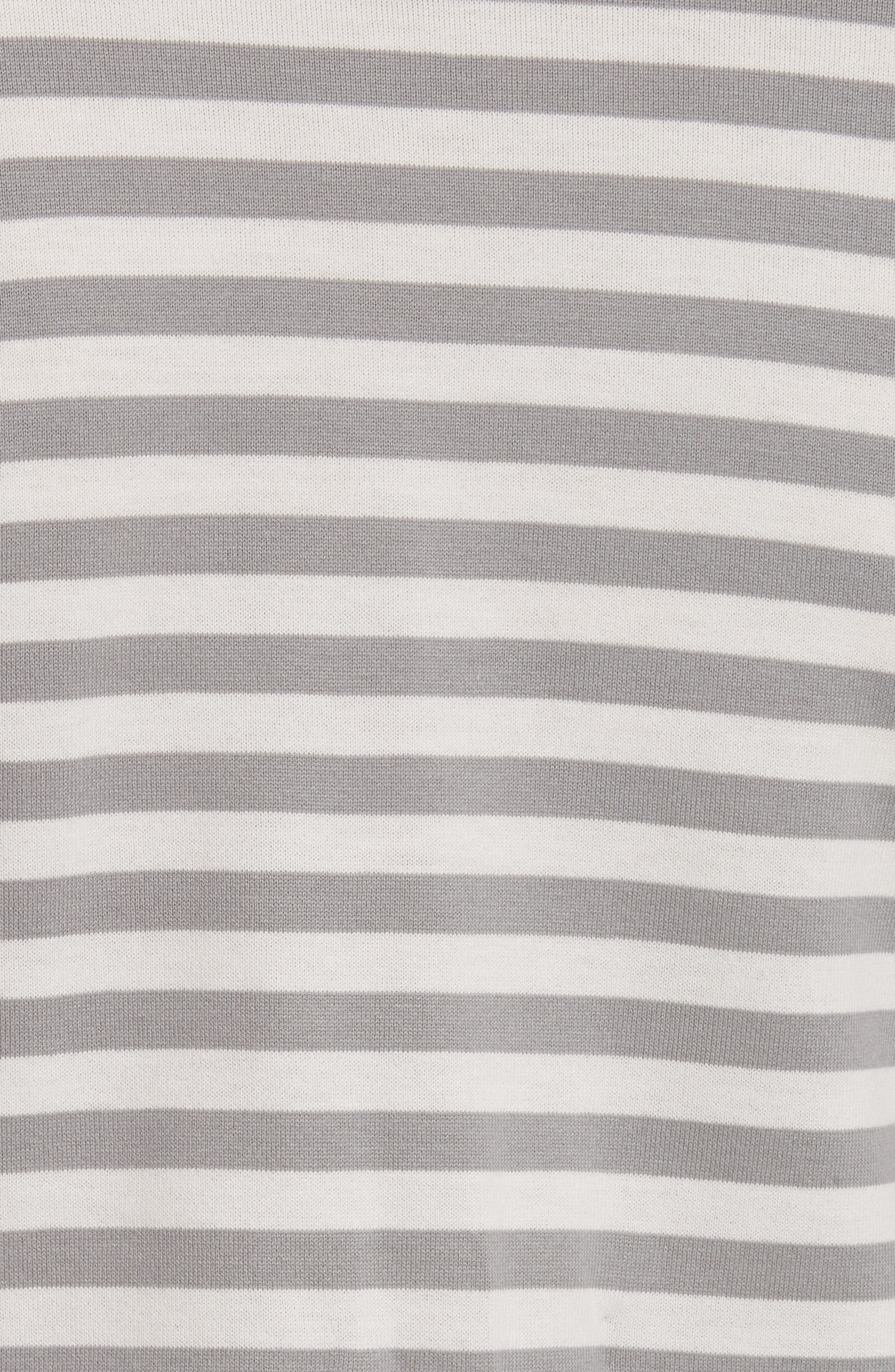 PLAY Heart Stripe Tee,                             Alternate thumbnail 5, color,                             Grey