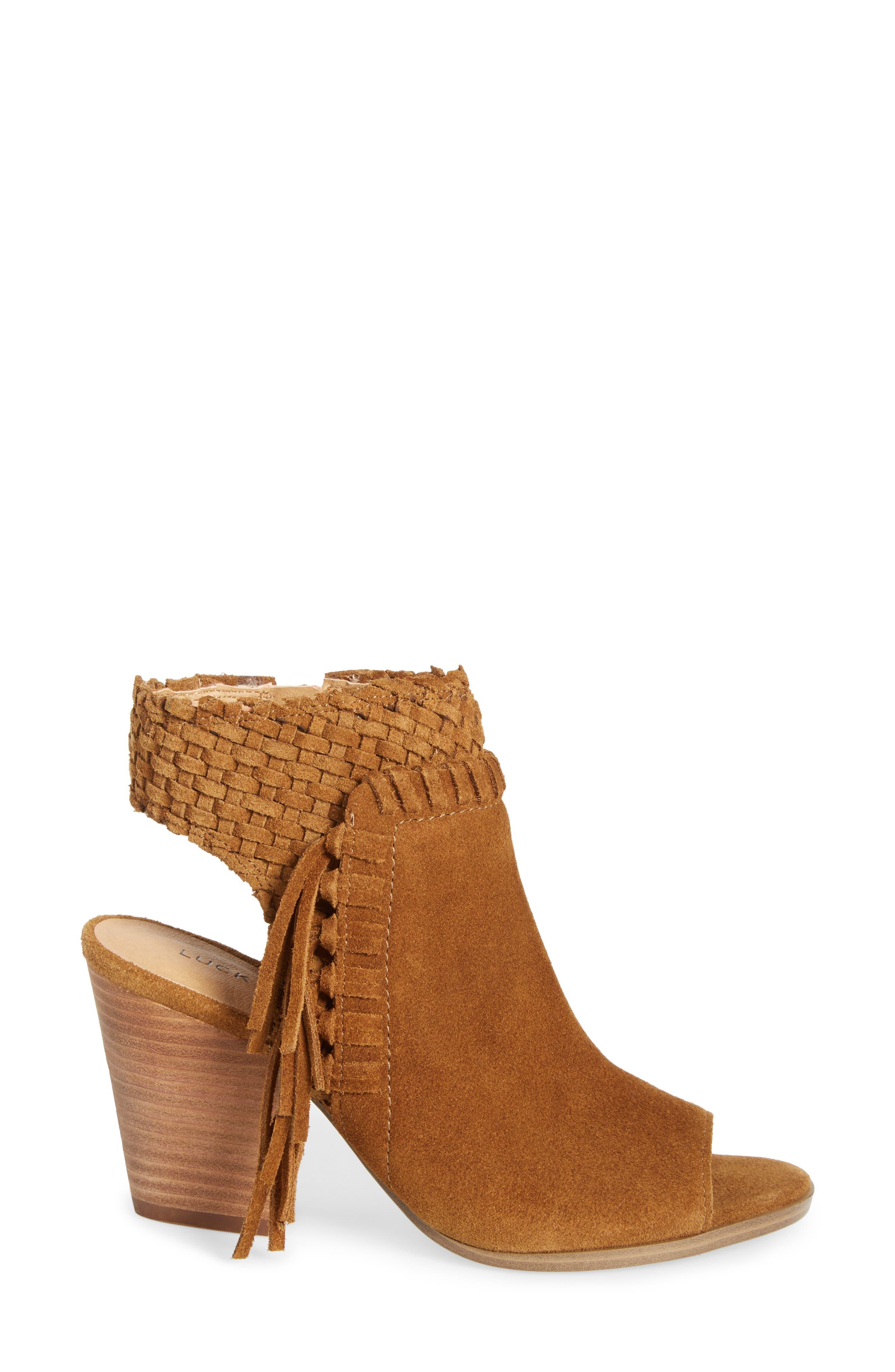 Alternate Image 3  - Lucky Brand Ointlee Fringe Bootie Sandal (Women)