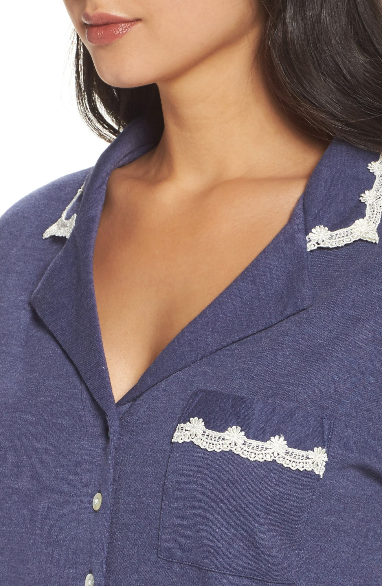 Jersey Pajamas,                             Alternate thumbnail 4, color,                             Blue