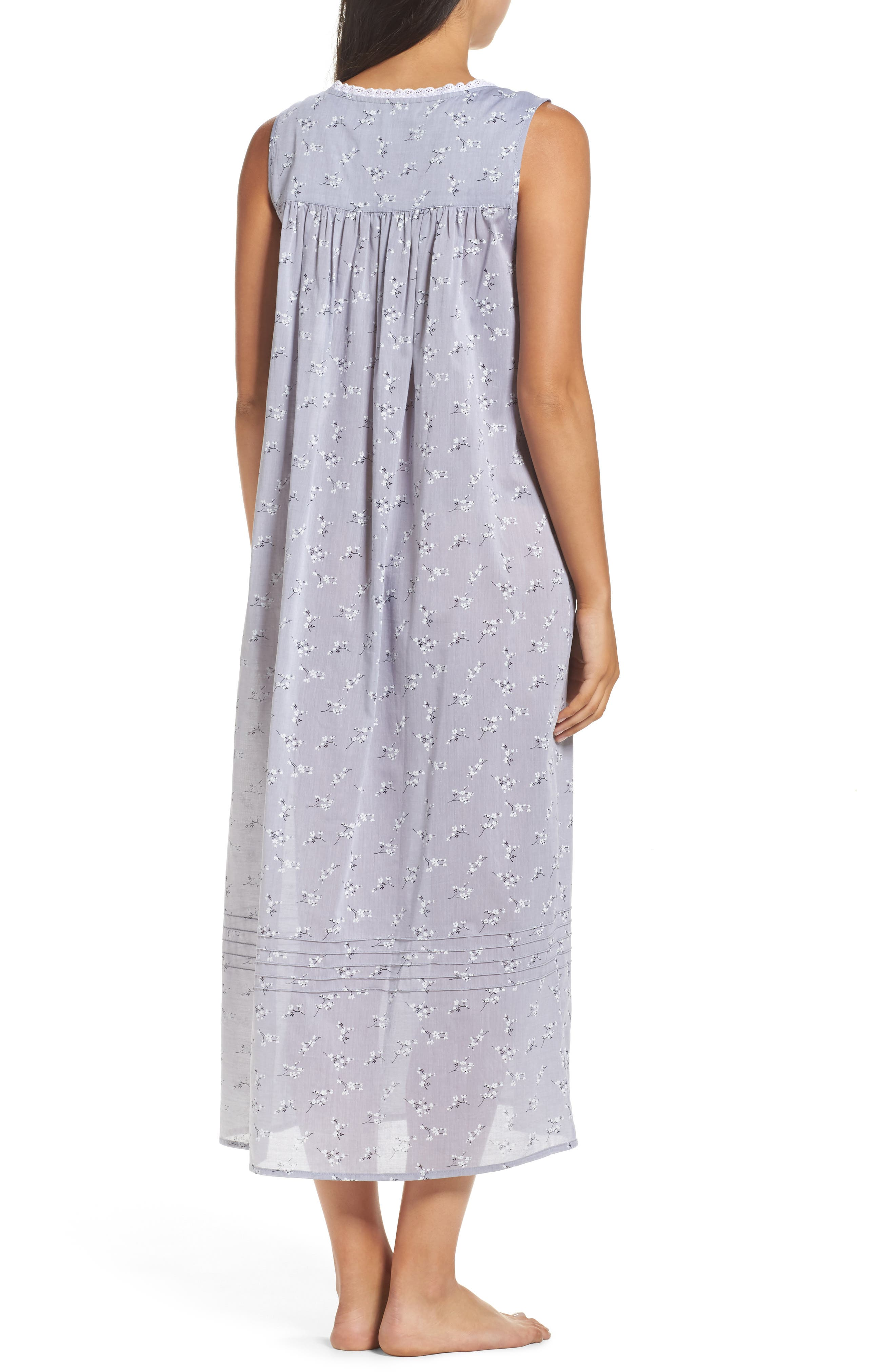 Pintuck Ballet Nightgown,                             Alternate thumbnail 2, color,                             Grey