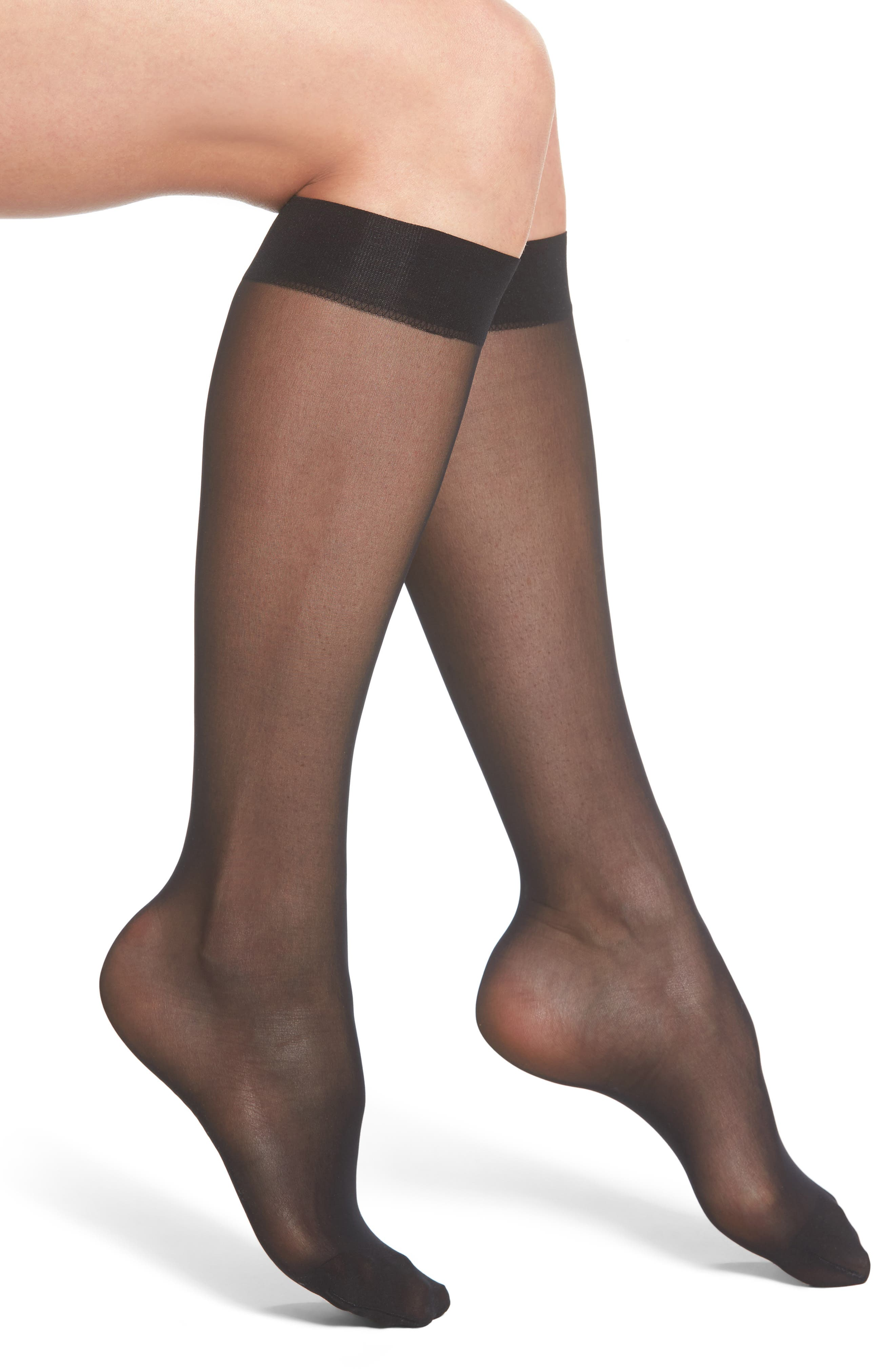 Wolford Knee High Stay-Up Stockings
