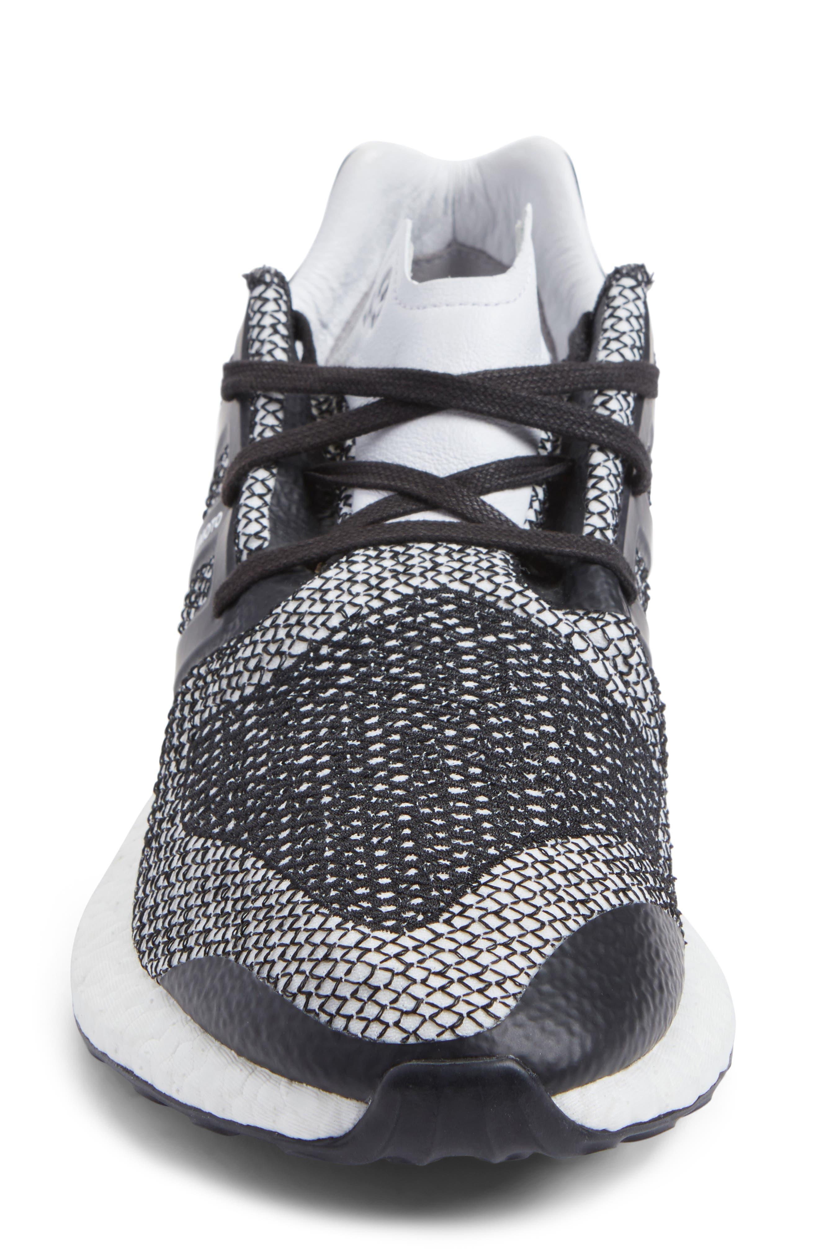 PureBoost Sneaker,                             Alternate thumbnail 4, color,                             White/ Core Black