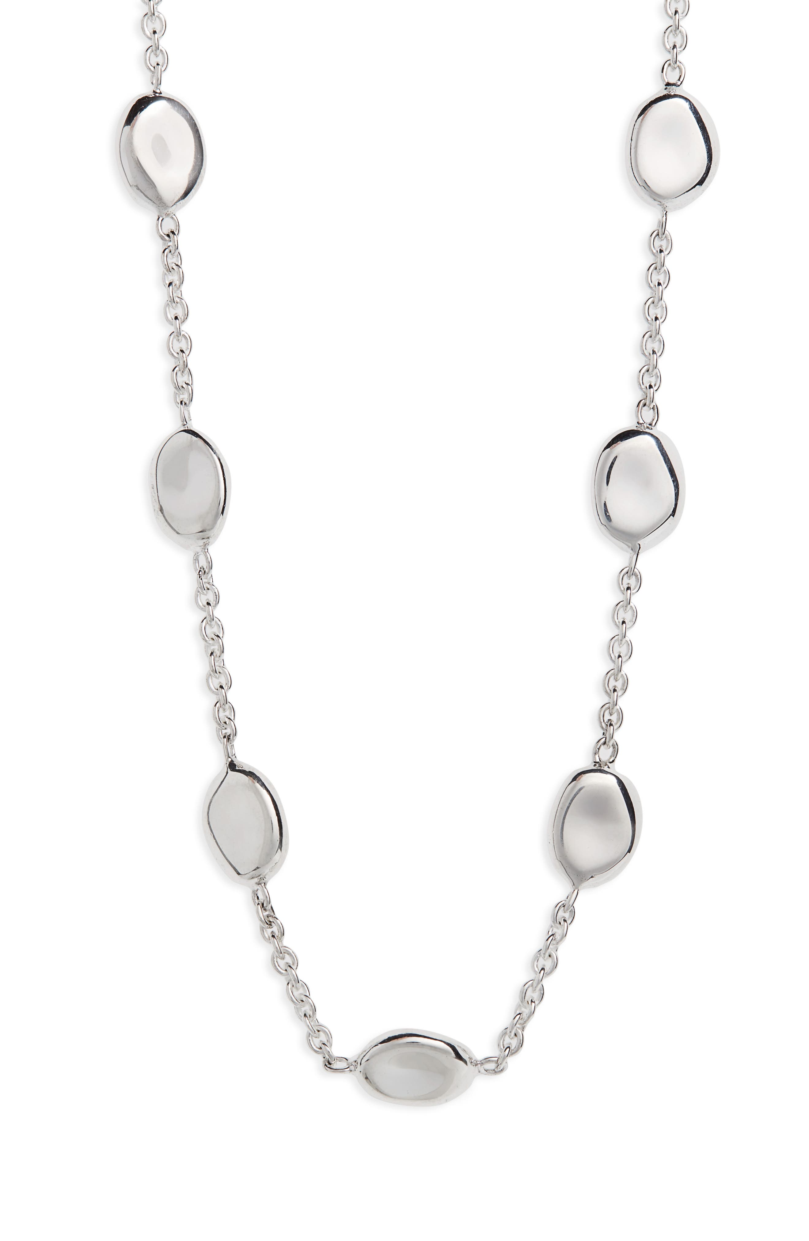 Onda Chain Necklace,                         Main,                         color, Silver