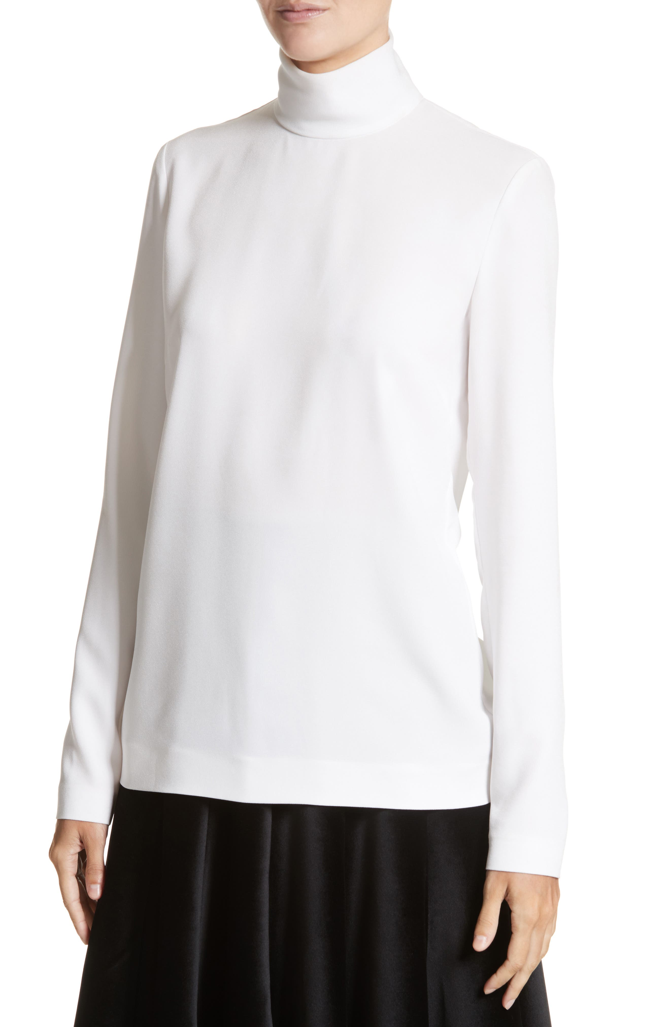 Alternate Image 5  - Sara Battaglia Crepe Cady Turtleneck Blouse